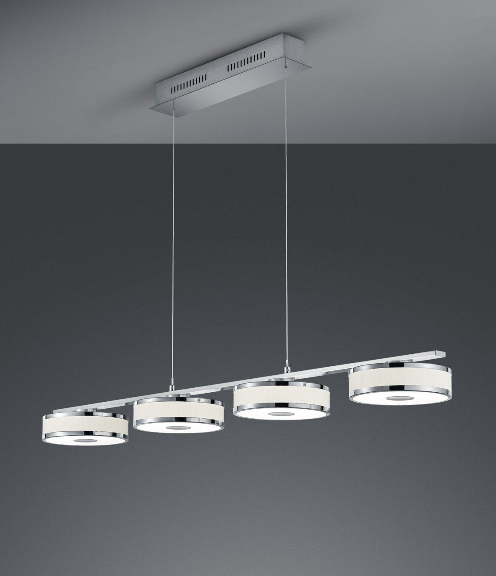 Hängeleuchte Agento Trio Leuchten Metall silber 115 x 95 x