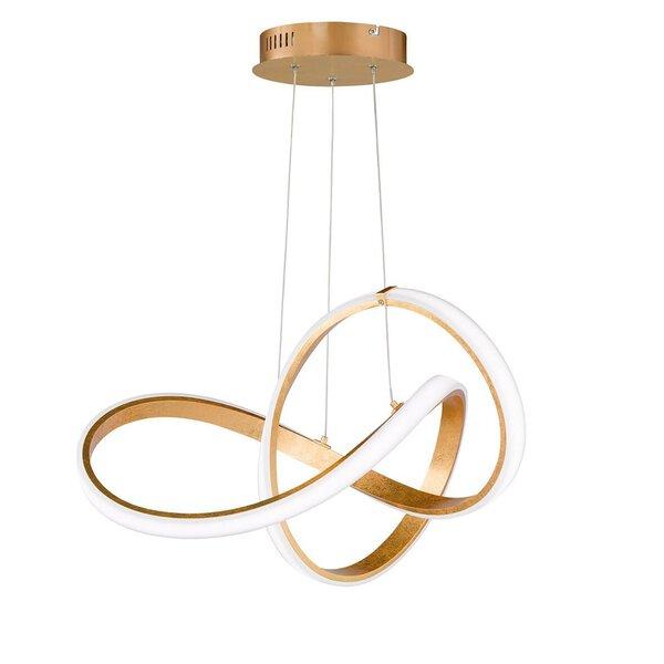 Hängeleuchte Wofi Leuchten Metall gold ca. 55 cm x 27 cm x 55 cm