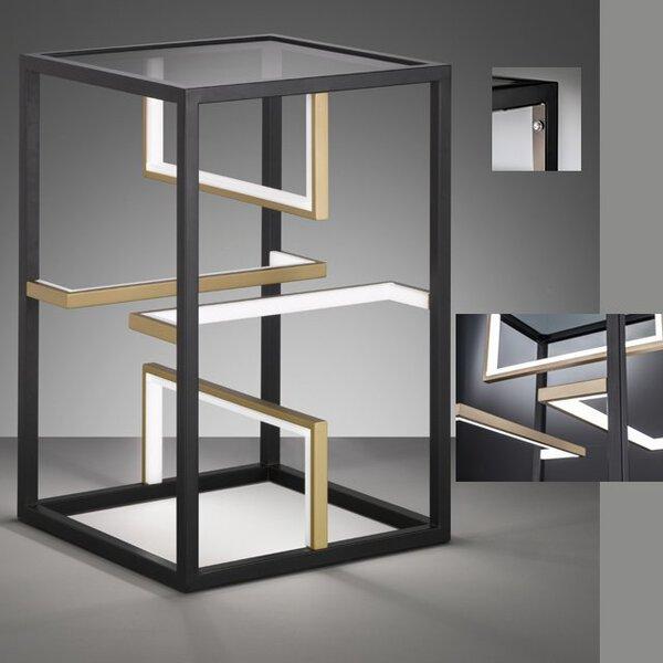 Tischleuchte Fischer-Honsel  Metall gold ca. 40 cm x 60 cm x 40 cm