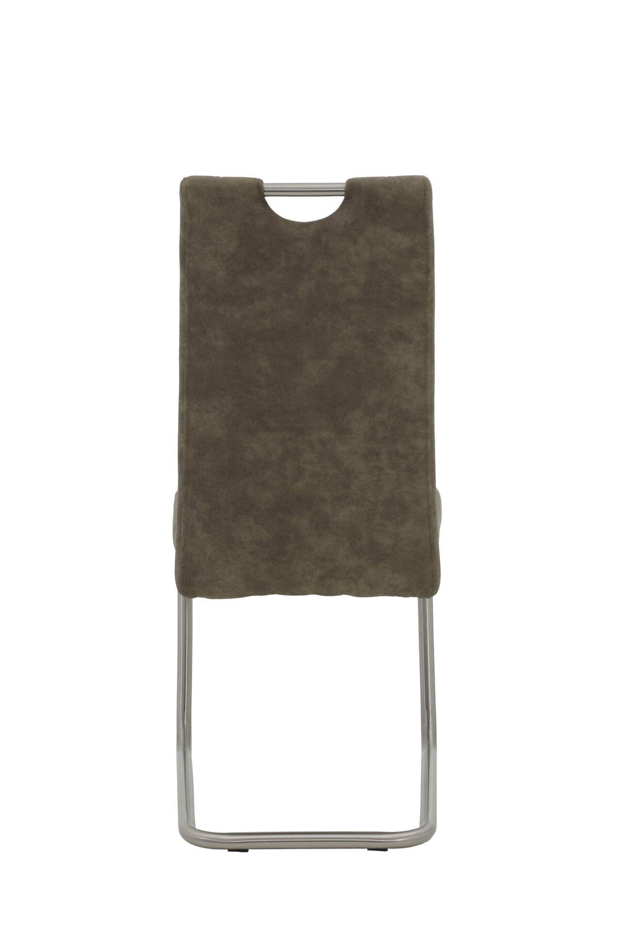 Freischwingerstuhl ULLA S Dinett Textil braun 59 x 98 x 43 cm