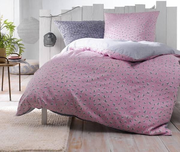 Satin-Bettwäsche Casa Nova Textil rosa