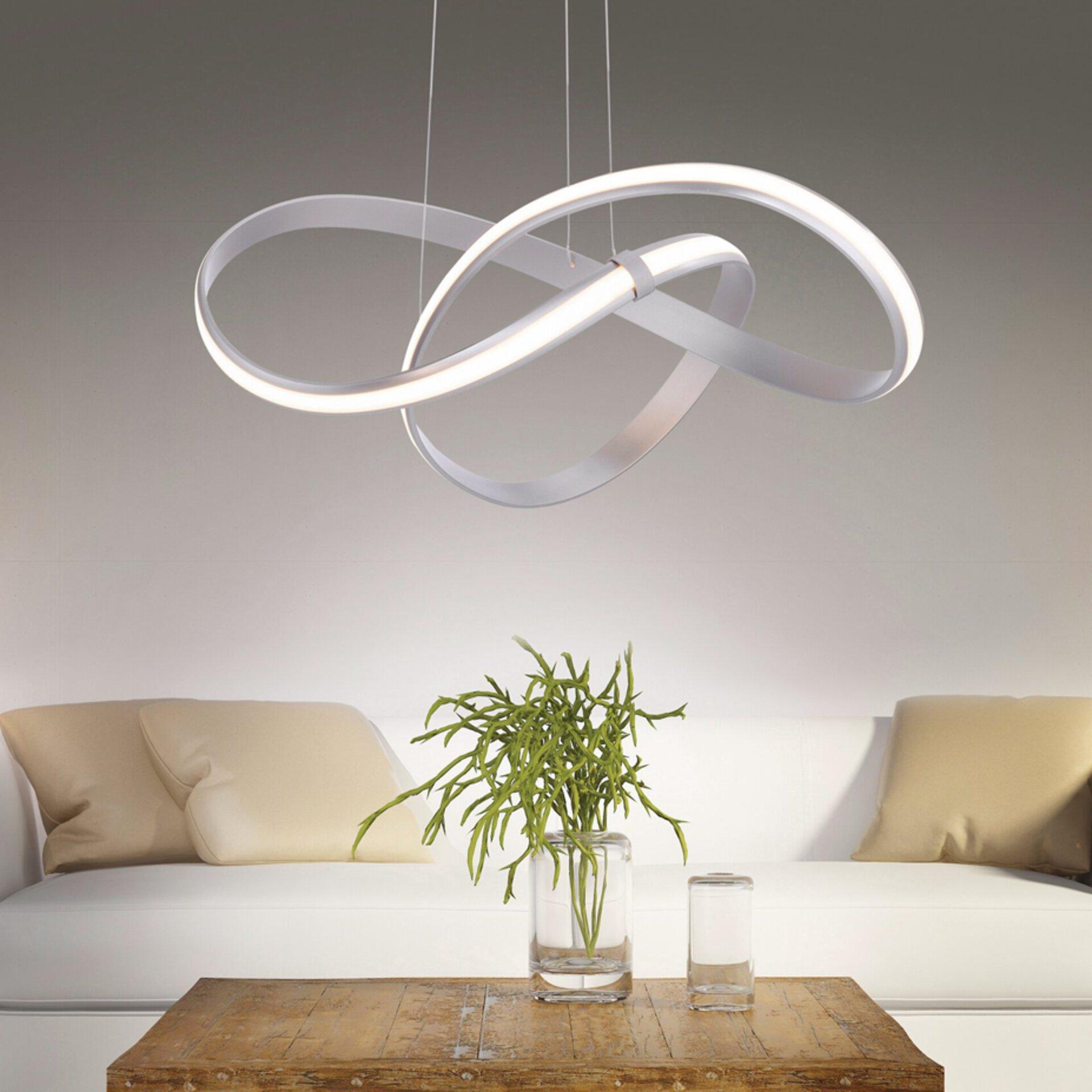 Moderne LED-Lampe in verschnörketem Design.