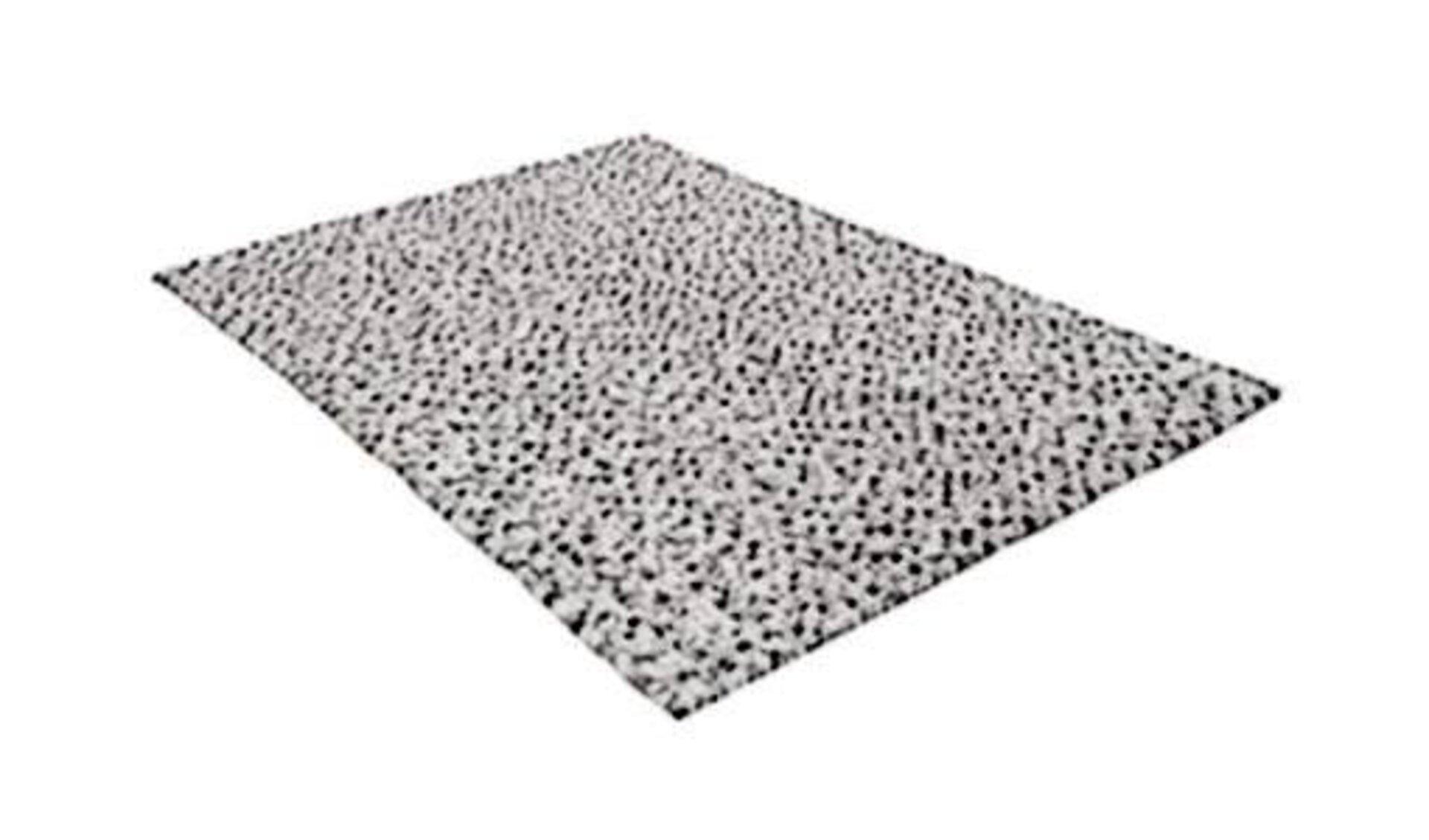 Icon für Naturteppich ist ein grauer Teppich aus Naturfasern.