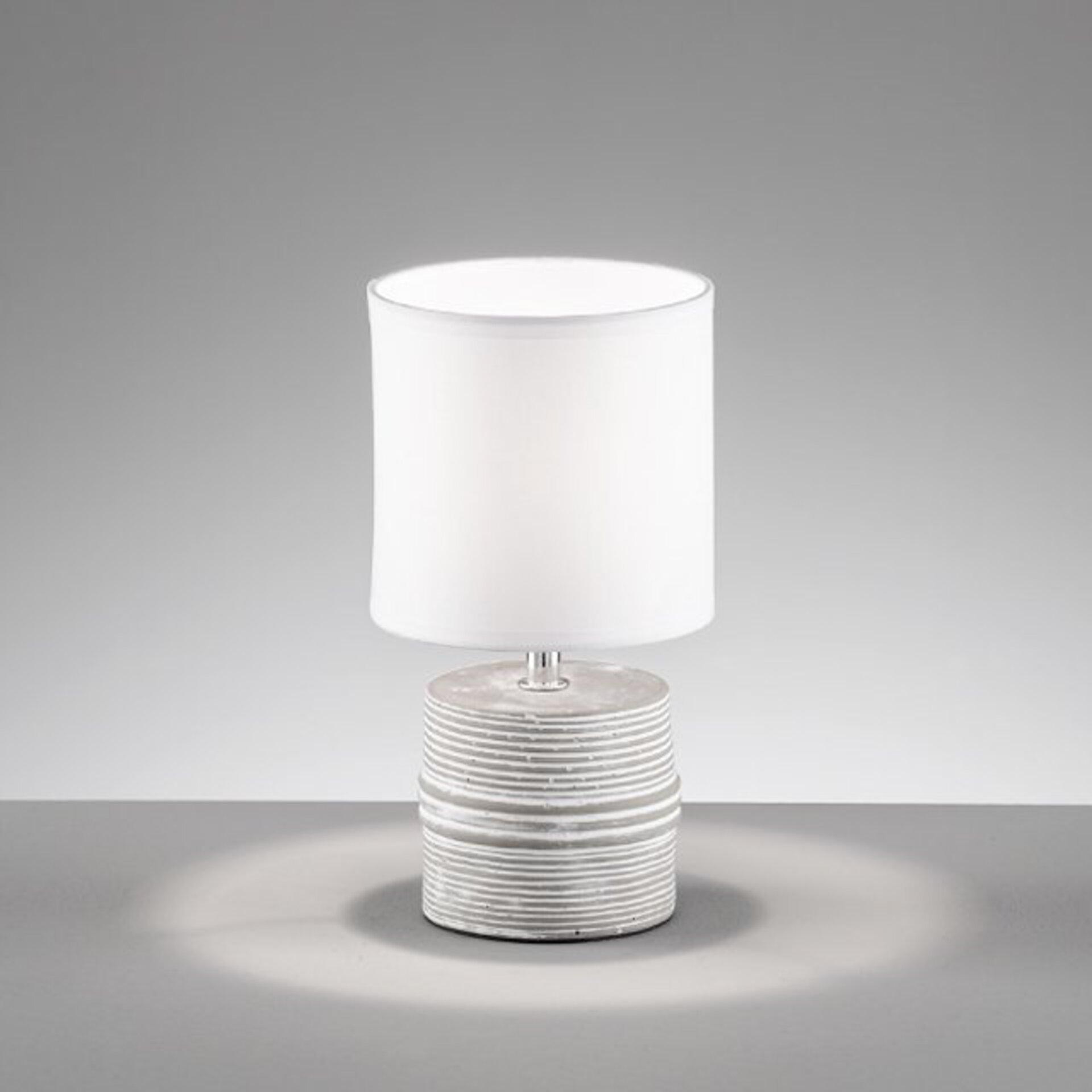 Tischleuchte Pilot Fischer-Honsel Keramik weiß 13 x 24 x 13 cm