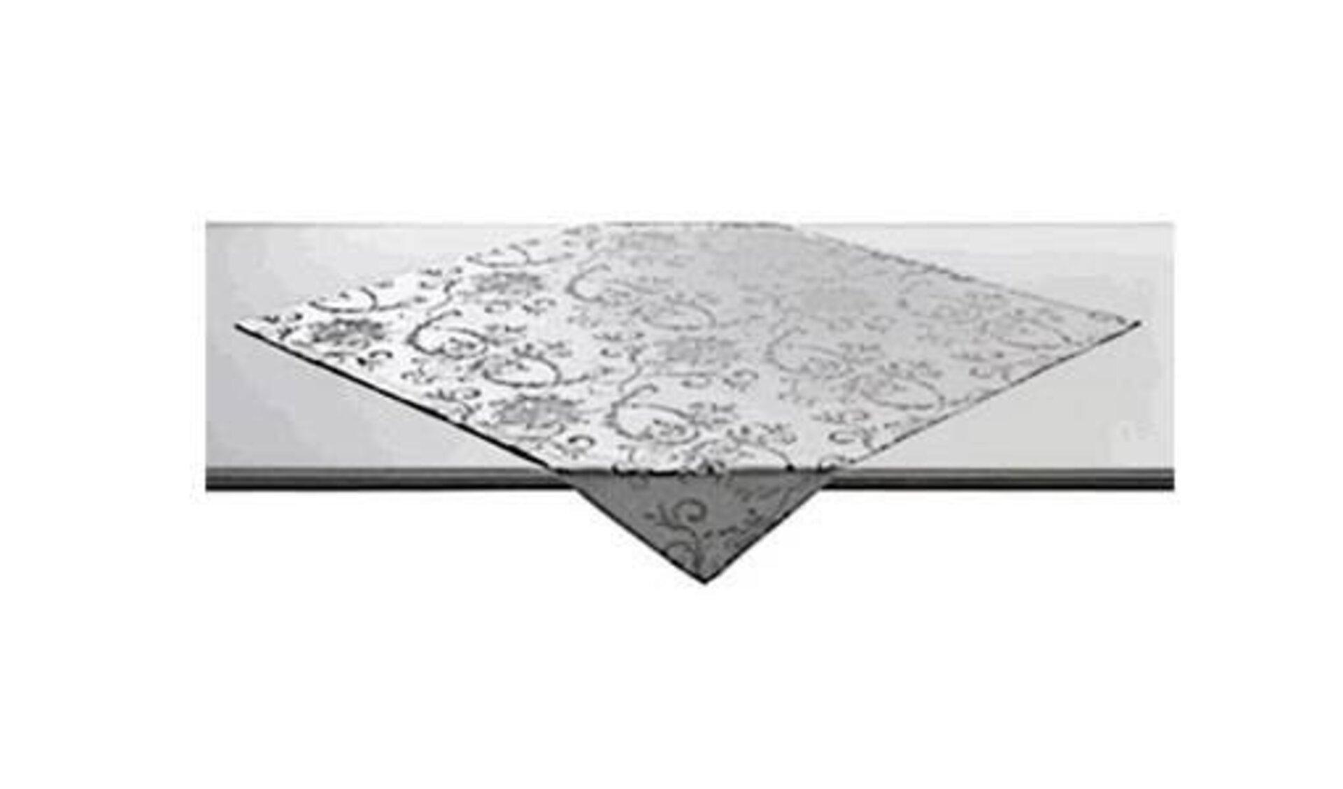 Icon für Tischdecken ist eine quadratische Jaquardtischdecke mit dezentem Muster