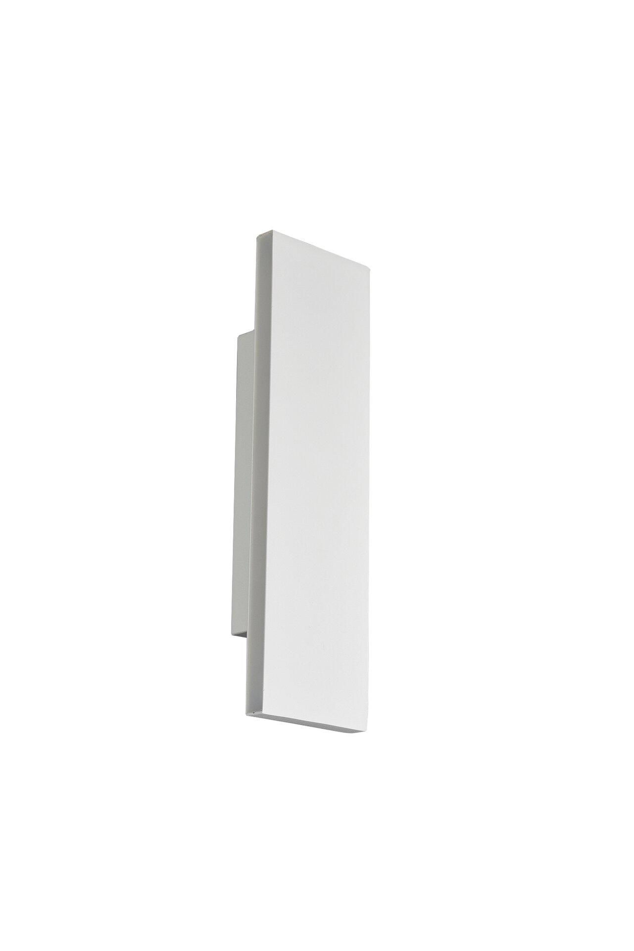 Wandleuchte Concha Trio Leuchten Metall weiß 5 x 8 x 28 cm