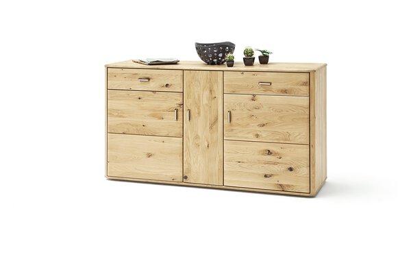 Sideboard VALMONDO Holz Balkeneiche massiv geölt ca. 50 cm x 208 cm x 323 cm