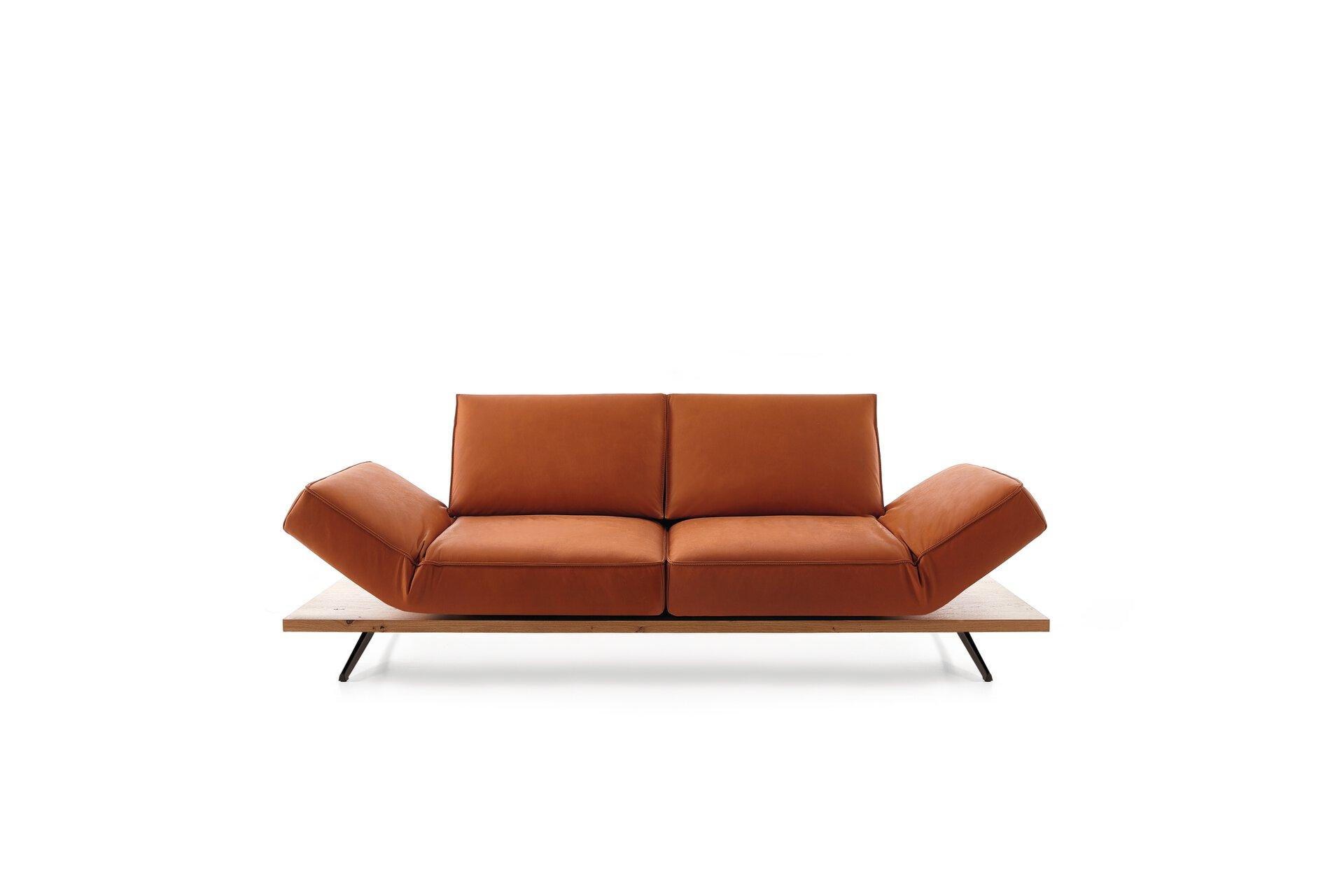 Sofa 2,5-Sitzer PHOENIX Koinor Leder orange 240 x 116 x 175 cm