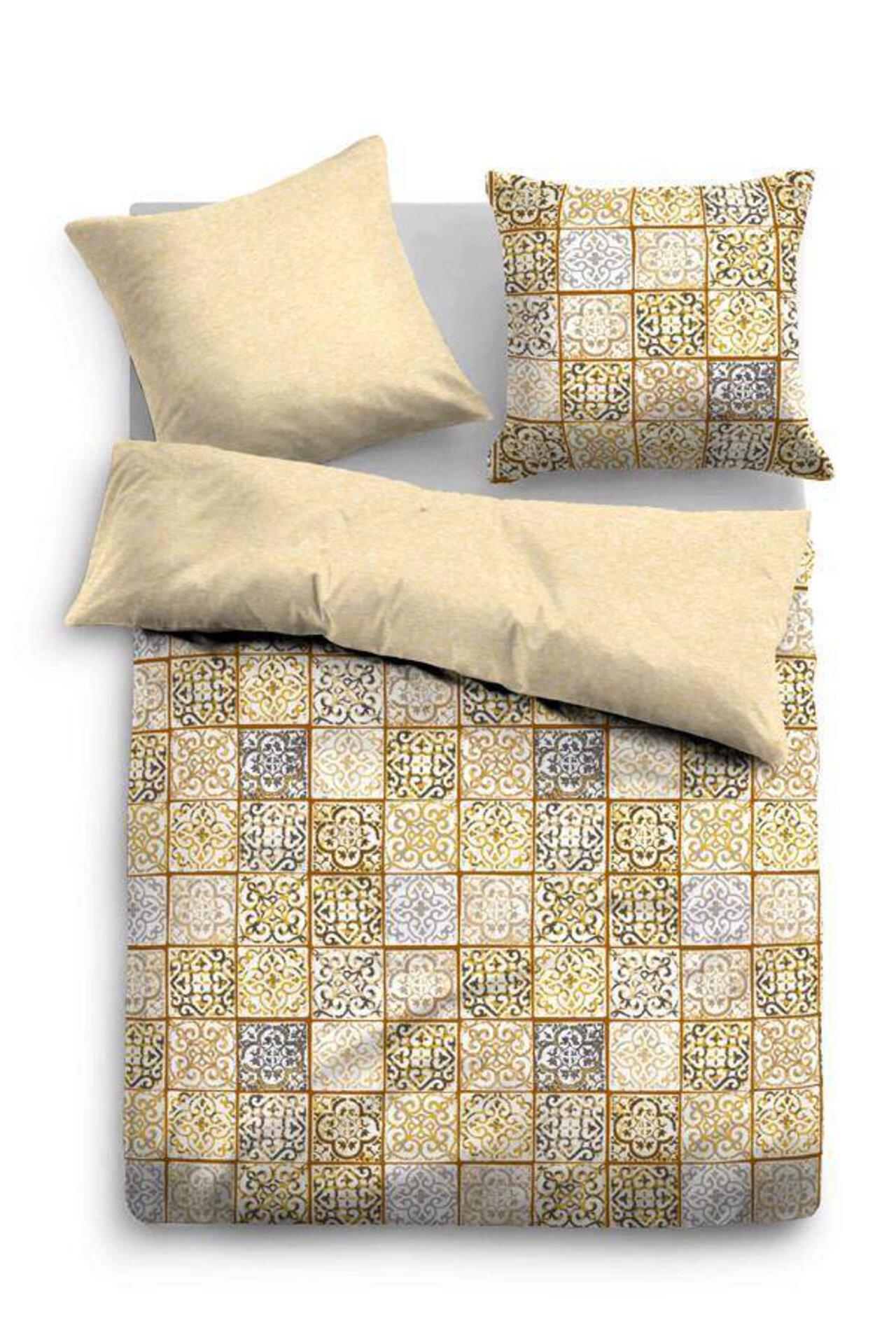 Satin-Bettwäsche Patchwork Ornamente Tom Tailor Textil 135 x 200 cm