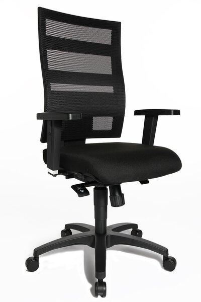 Büro-Drehstuhl Topstar Kunststoff, Textil Schwarz ca. 48 cm x 116 cm x 48 cm