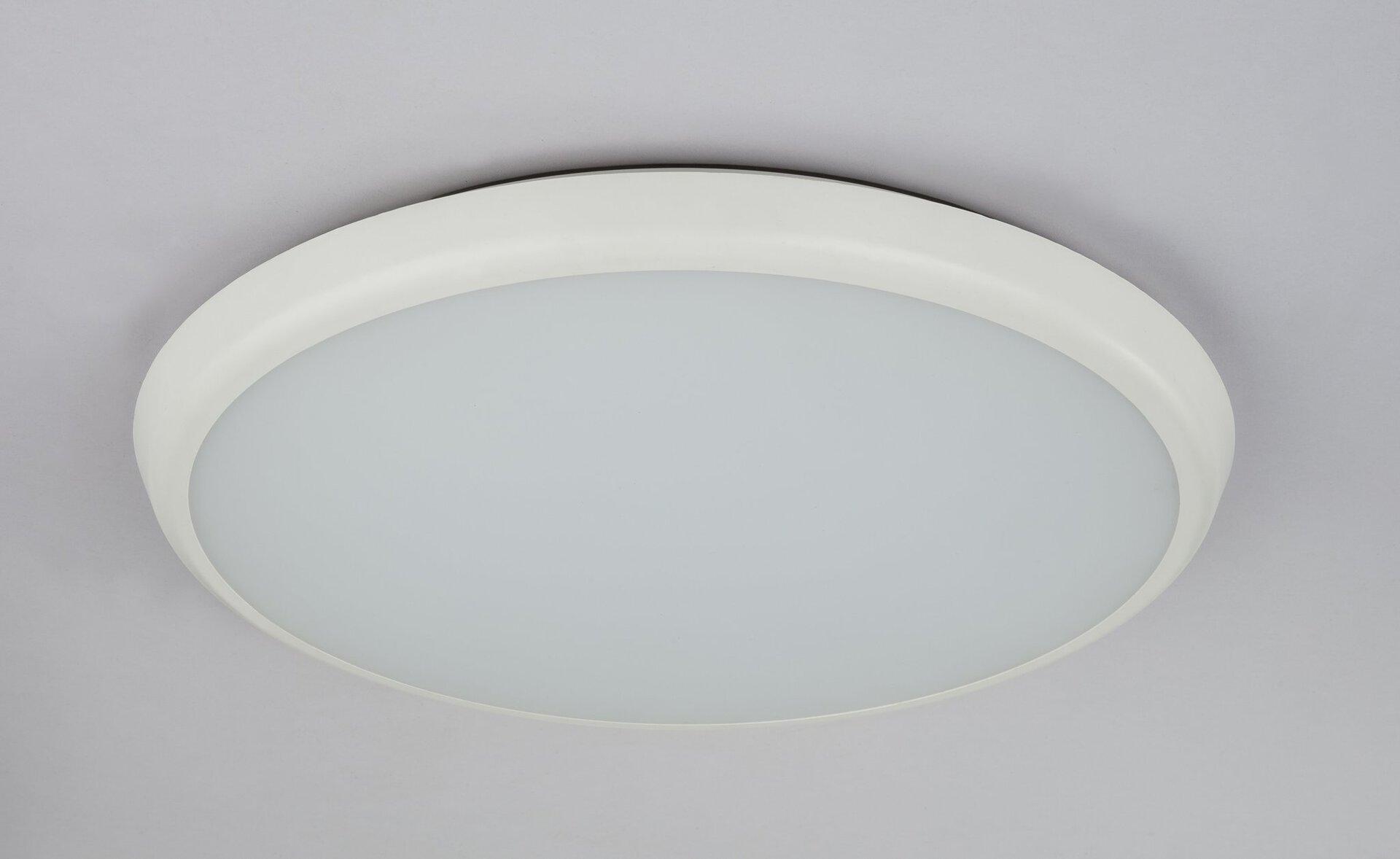 Decken-Aussenleuchte AEMON Globo Kunststoff weiß 40 x 5 x 40 cm