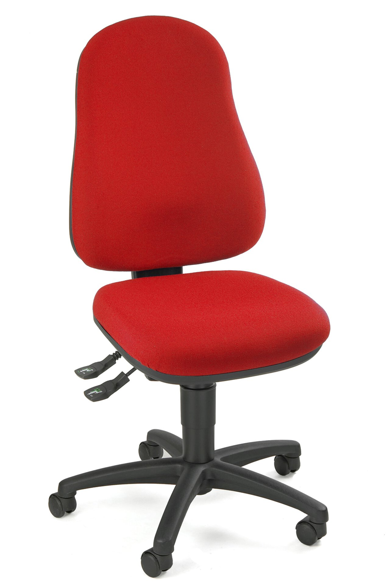Büro-Drehstuhl POINT 60 Topstar Textil rot 48 x 109 x 46 cm