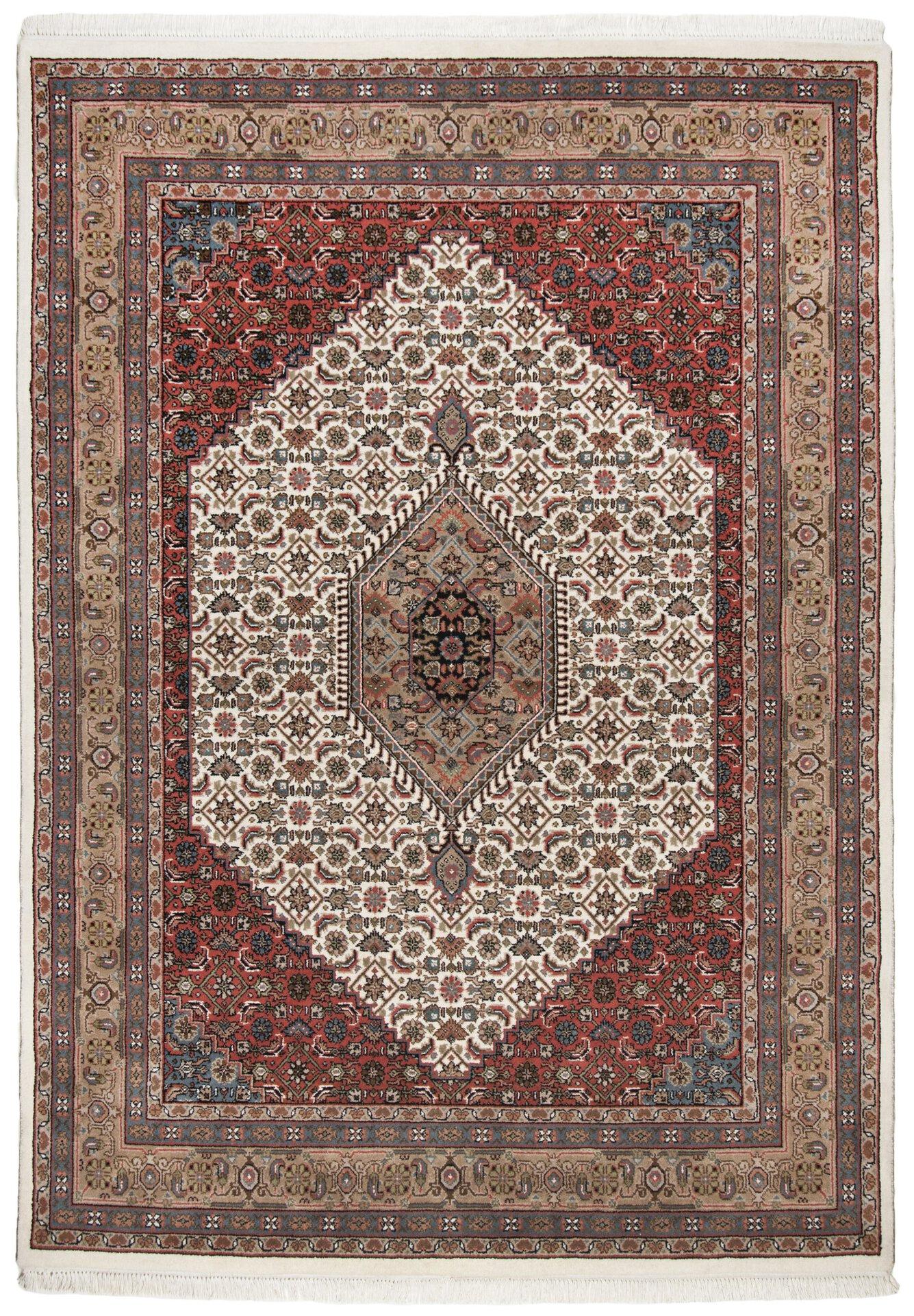 Handknüpfteppich Varanasi Theko Textil braun 1 x 2 cm