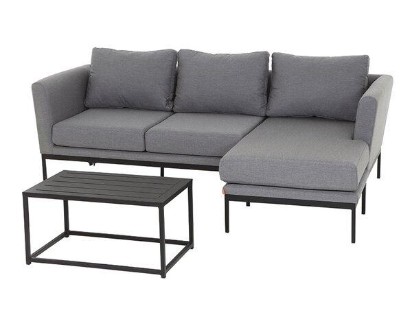 Lounge-Set Siena Garden Textil Grau ca. 234 cm x 53 cm x 95 cm