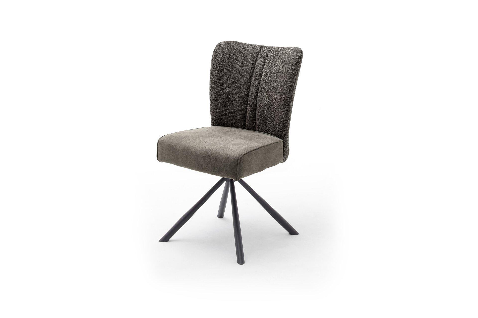 Stuhl HOMER Vito Textil grau 62 x 55 x 53 cm