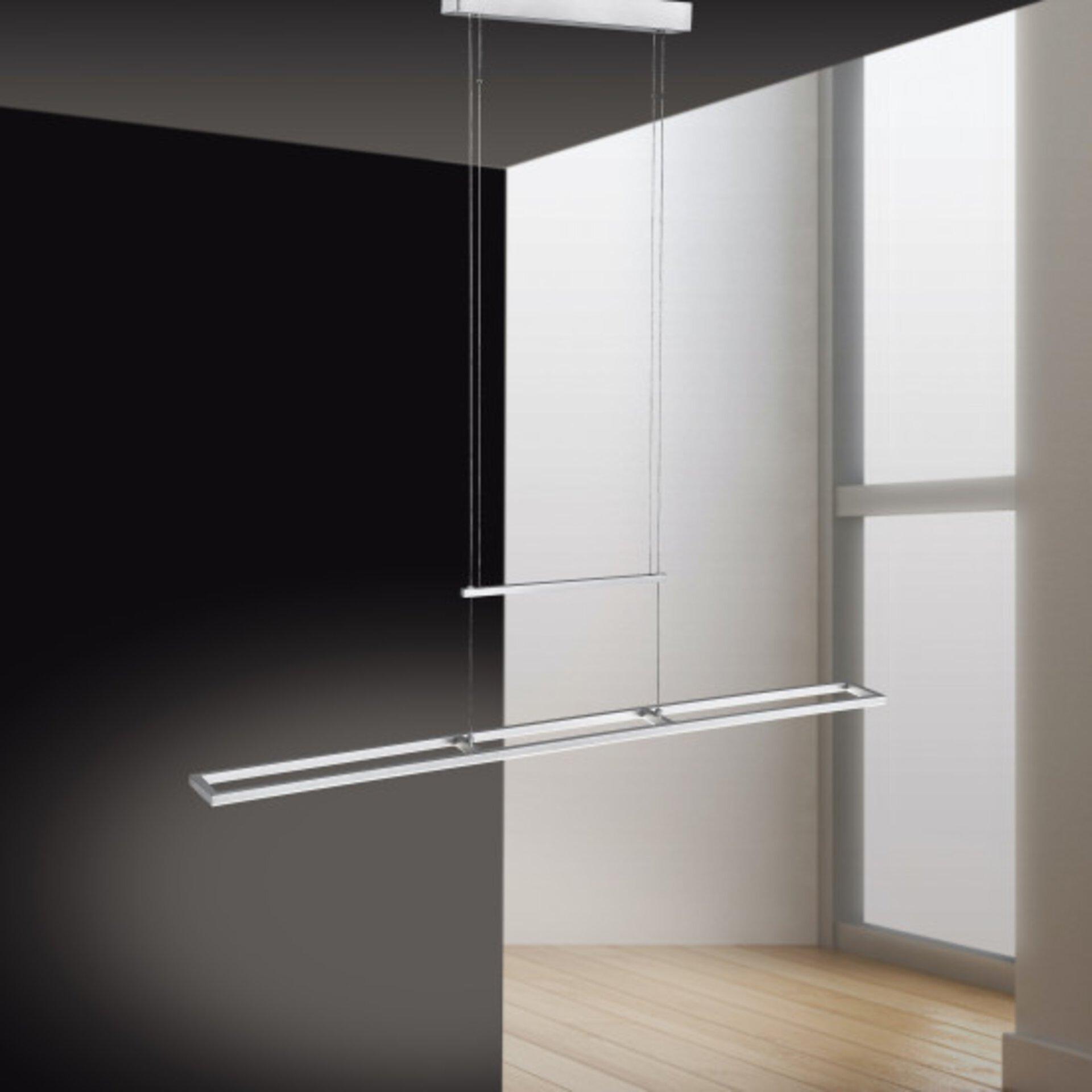 Hängeleuchte INIGO Paul Neuhaus Metall silber 10 x 160 x 110 cm