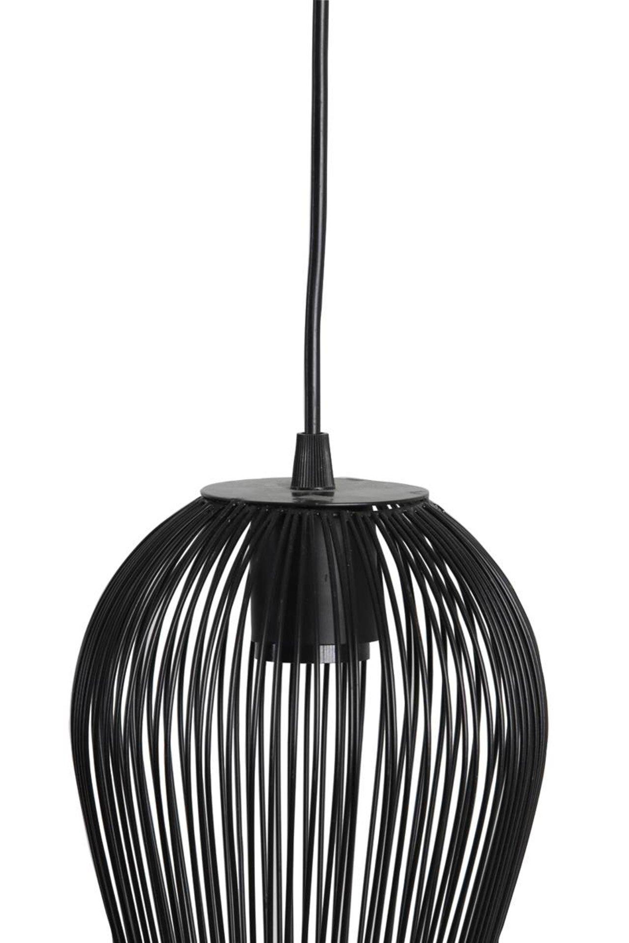 Hängeleuchte ABBY Light & Living Metall schwarz 19 x 146 x 26 cm