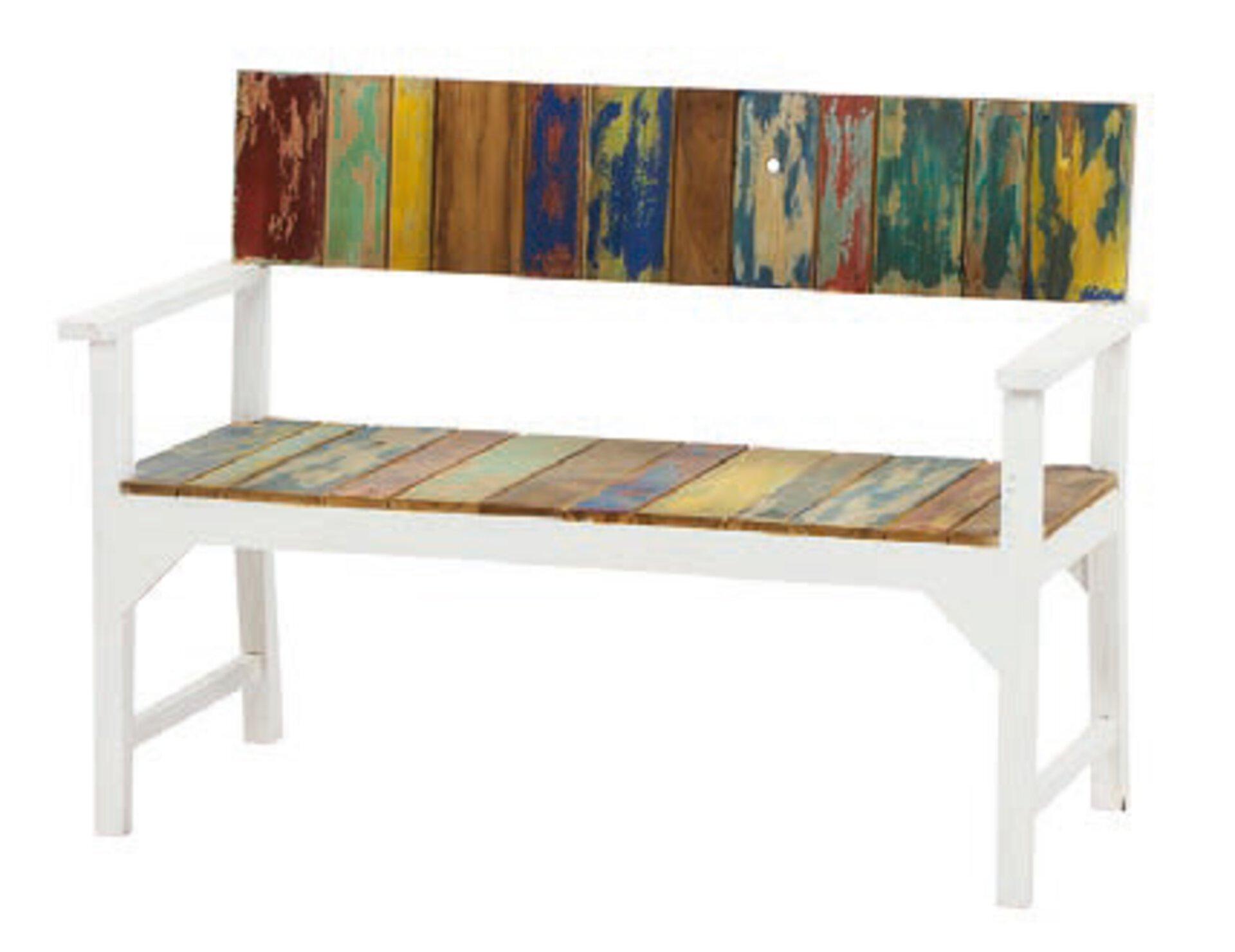 Gartenbank LOREO Siena Garden Holz mehrfarbig 124 x 90 x 57 cm