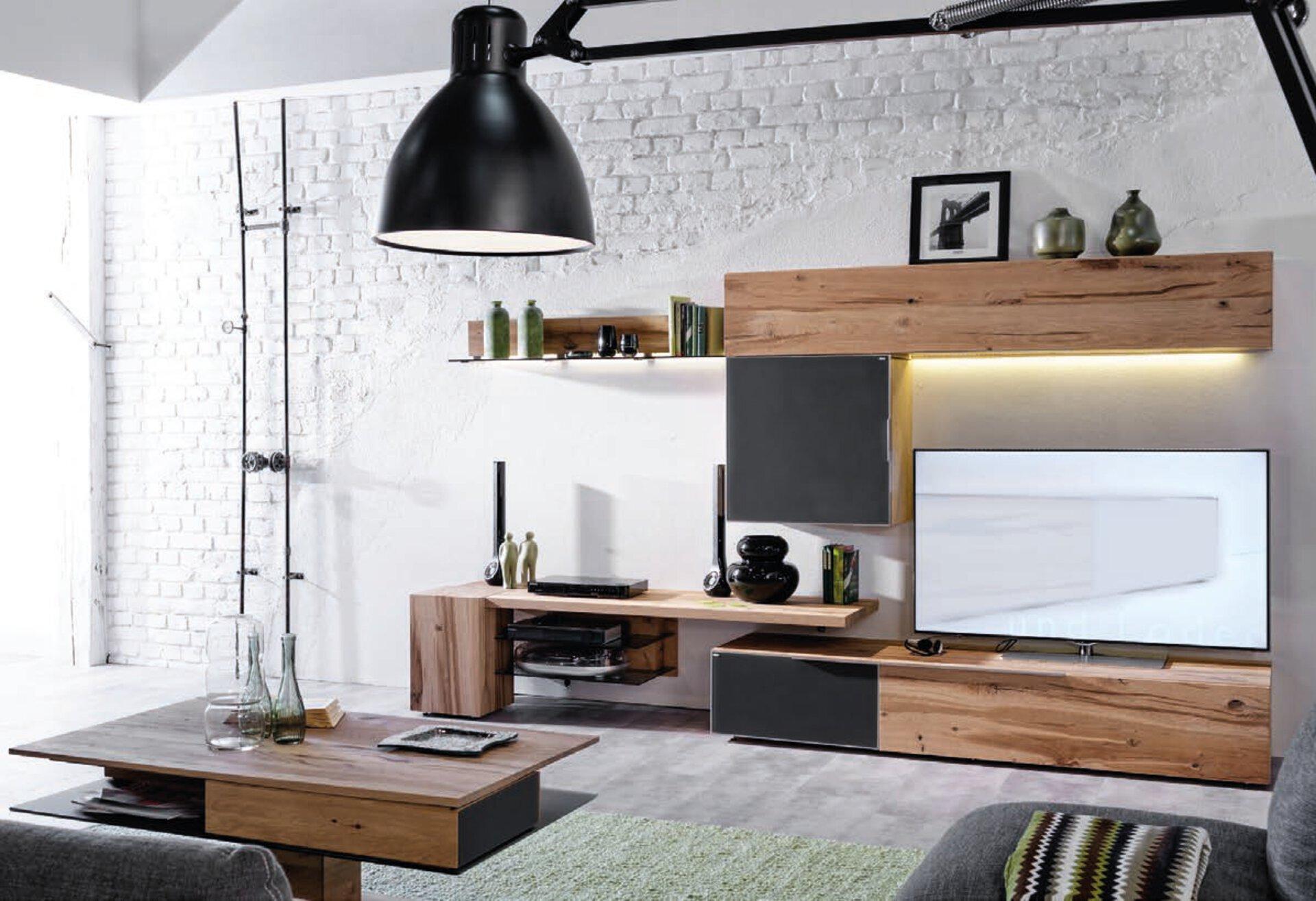 Wohnwand V-ALPIN Voglauer Holzwerkstoff mehrfarbig 57 x 178 x 320 cm
