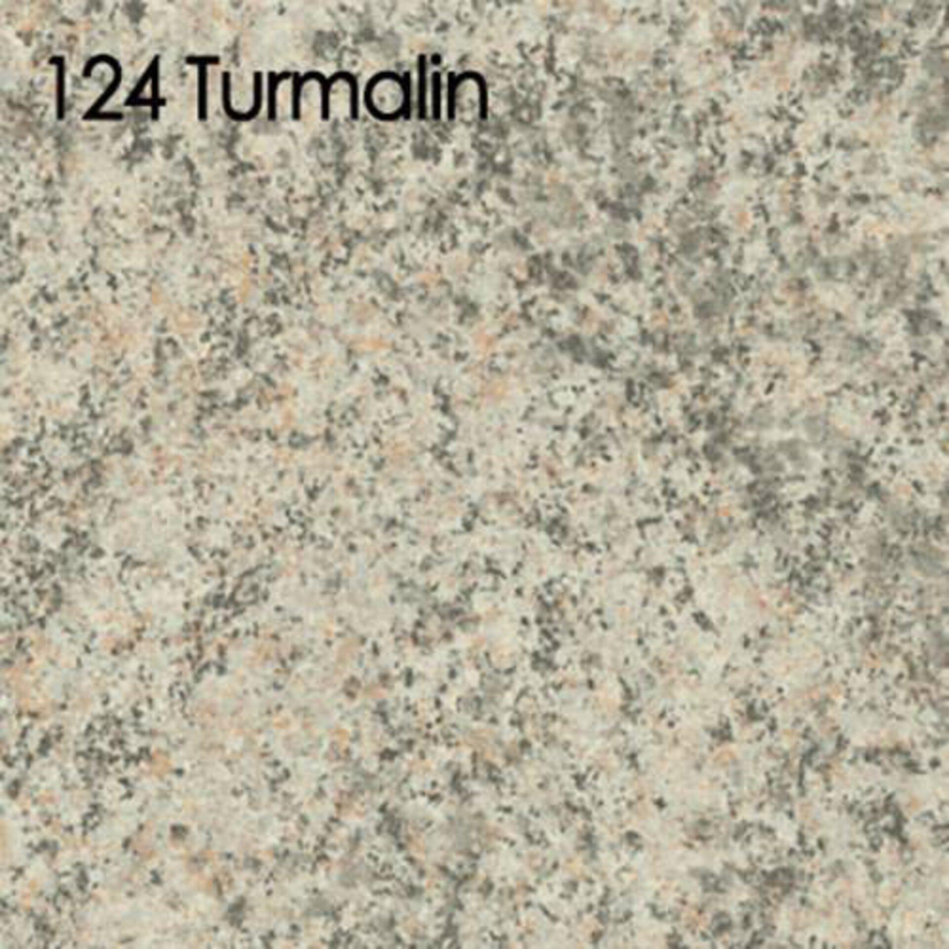 Arbeitsplatte aus Laminat in der Steinoptikausführung Turmalin.