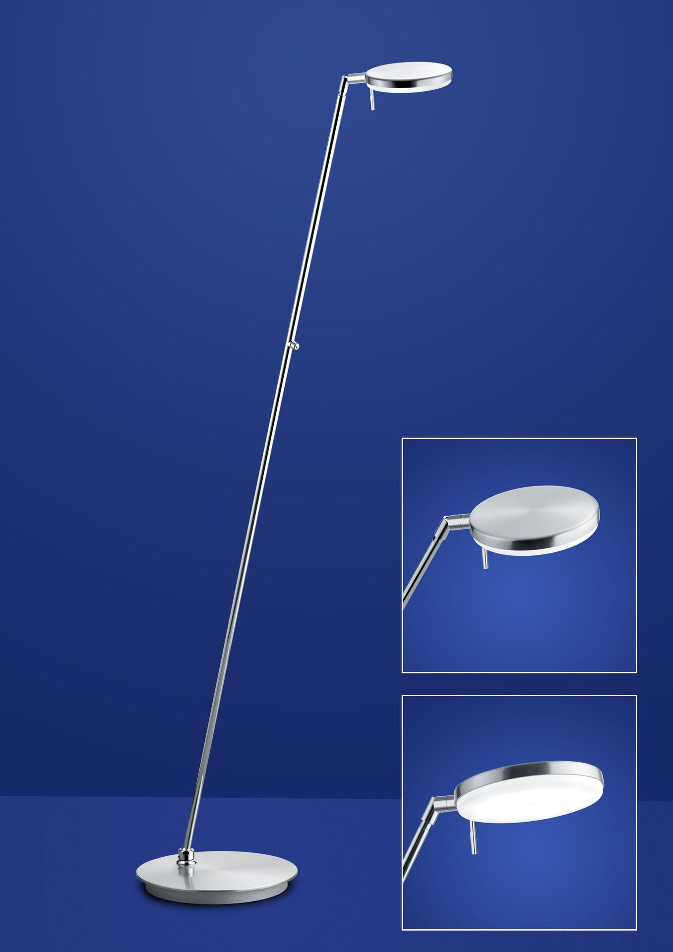 Stehleuchte OMEGA B-Leuchten Metall silber 27 x 140 x 90 cm