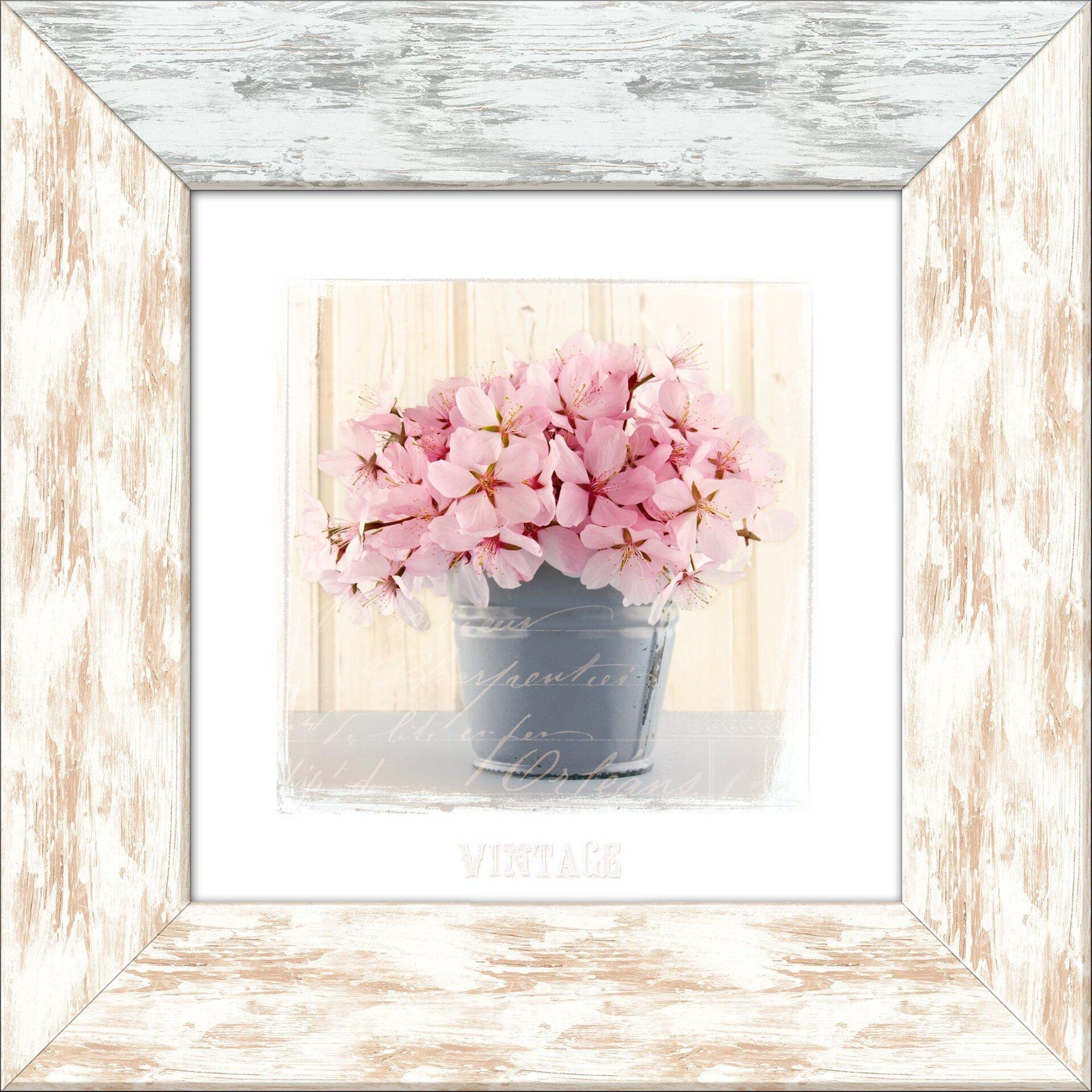 Bild Herbstrose I Pro-Art Holzwerkstoff mehrfarbig 44 x 44 x 1 cm
