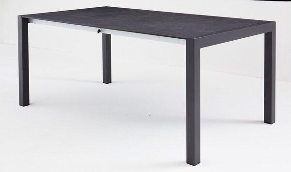 Ausziehtisch Outdoor Holz, Kunststoff, Metall anthrazit ca. 100 cm x 74 cm x 180 cm