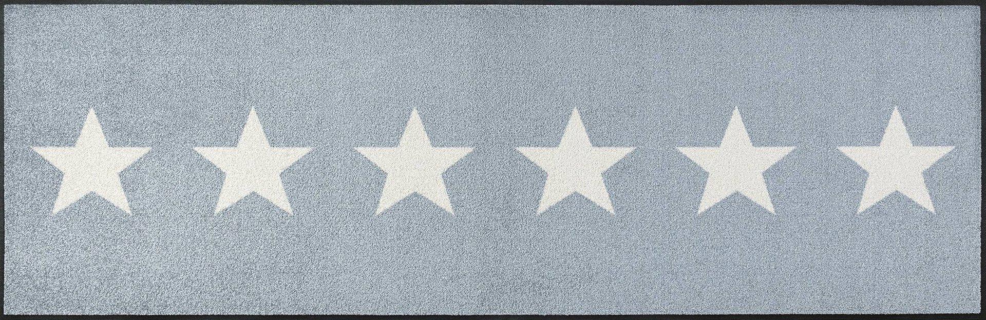 Läufer Stars grey Kleen-Tex Textil grau 60 x 180 cm