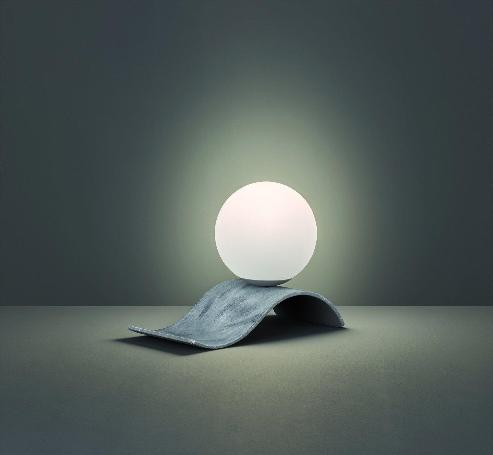 Tischleuchte Lara Trio Leuchten Metall grau 15 x 21 x 15 cm