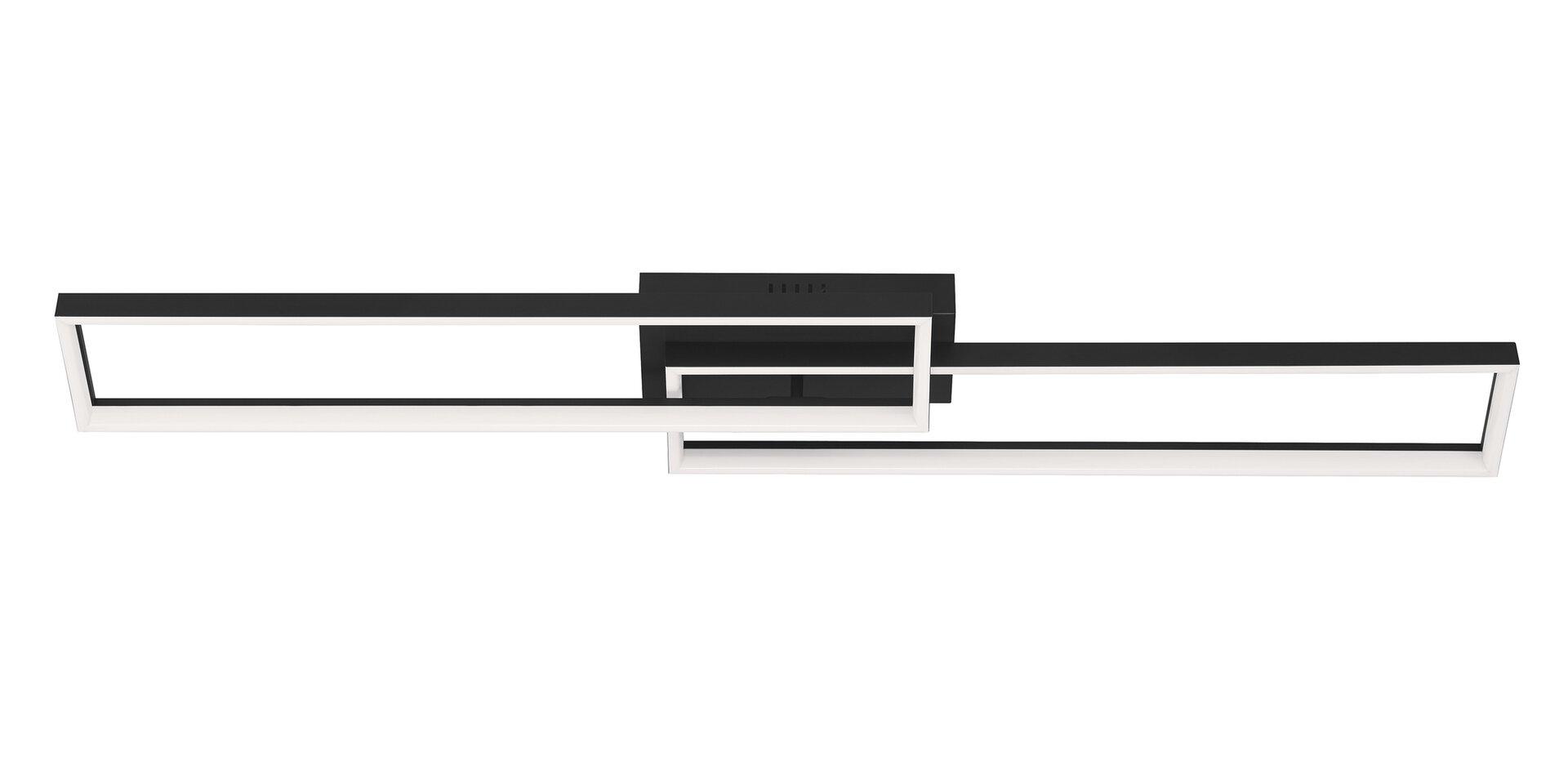 Deckenleuchte FRAME Briloner Metall schwarz 22 x 9 x 110 cm