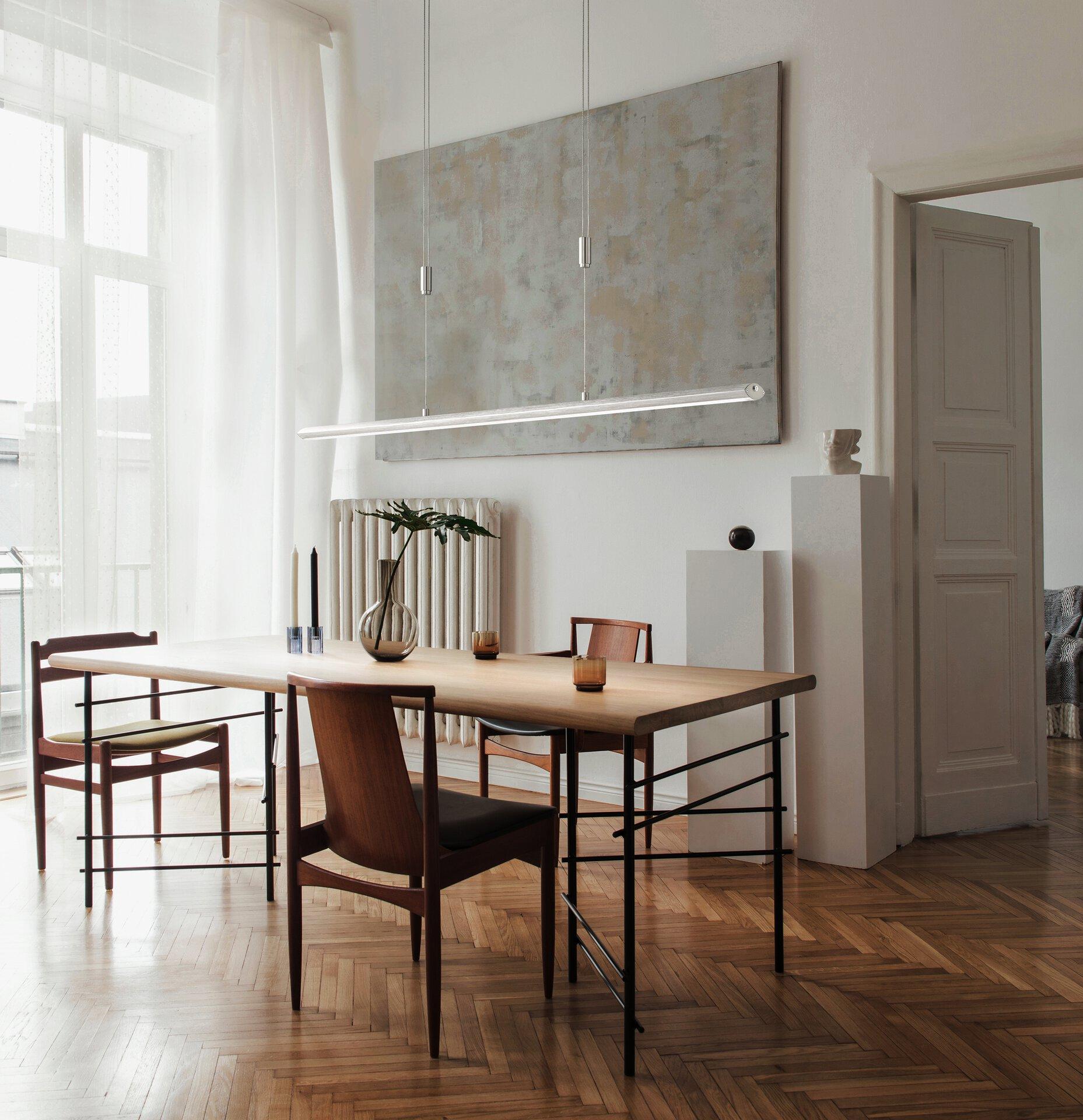 Hängeleuchte Beat Fischer-Honsel Metall silber 8 x 160 x 113 cm