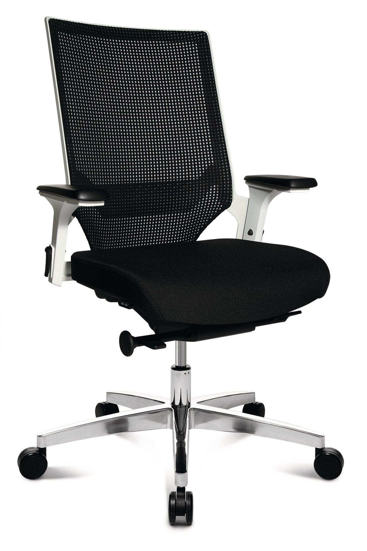 Büro-Drehstuhl M3 MONDO Textil schwarz 49 x 103 x 48 cm
