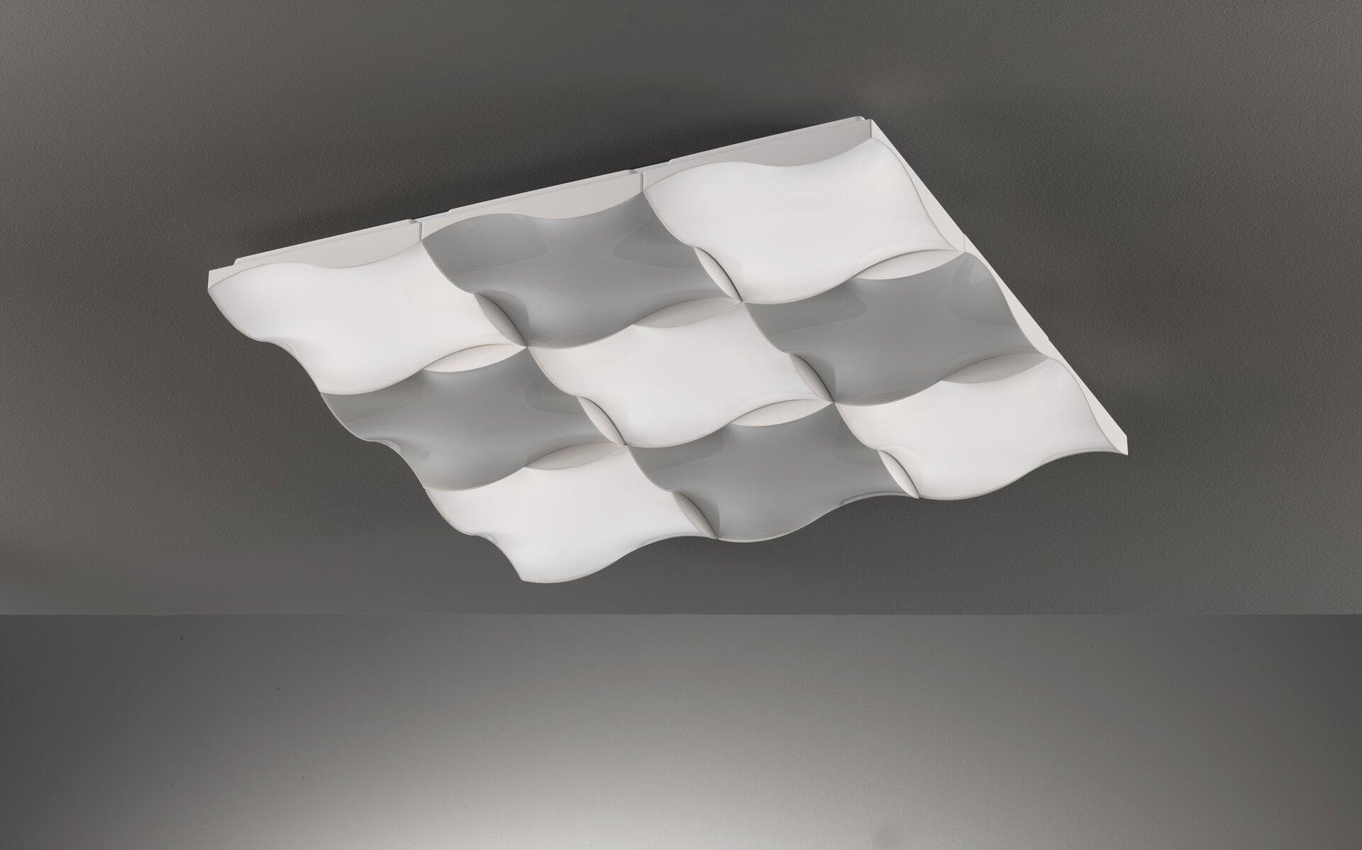 Deckenleuchte Dirk Fischer-Honsel Kunststoff weiß 81 x 9 x 81 cm