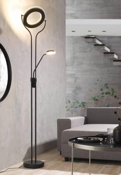 Stehleuchte Casa Nova Metall schwarz ca. 30 cm x 180 cm x 30 cm