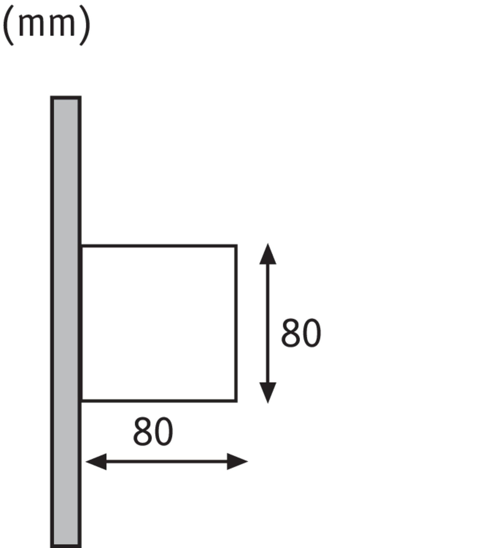 Wand-Aussenleuchte CYBO Paulmann Metall 8 x 8 x 8 cm