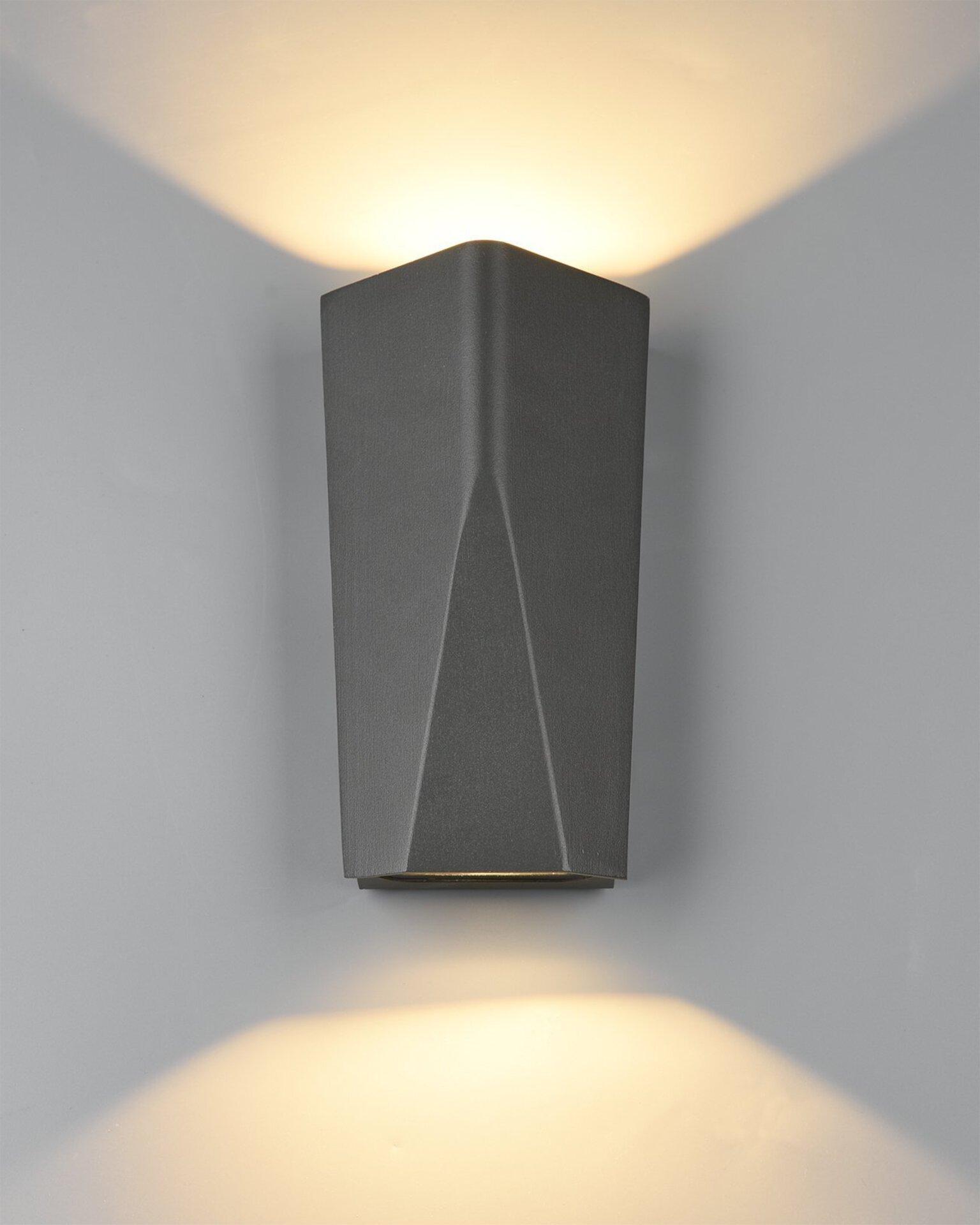 Wand-Aussenleuchte Tay Trio Leuchten Metall 20 x 6 x 11 cm