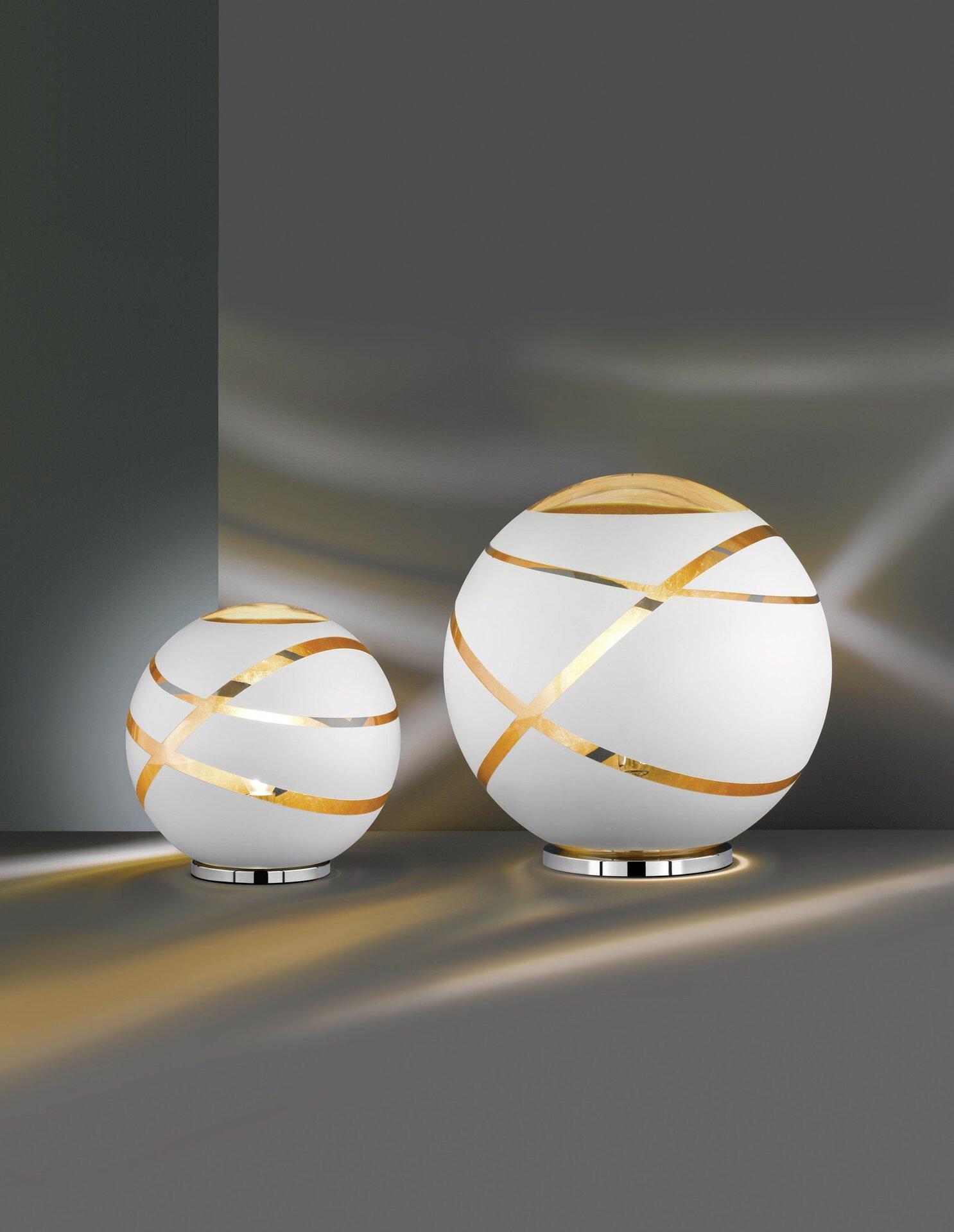 Tischleuchte Faro Trio Leuchten Glas 30 x 30 cm