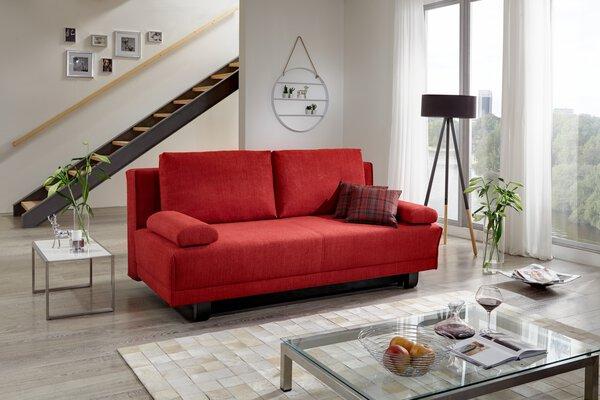 Sofa 2,5-Sitzer Nehl  Textil Arosa rot ca. 108 cm x 85 cm x 200 cm