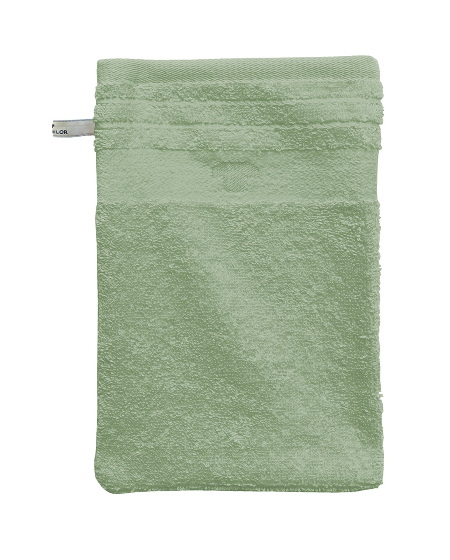 Waschhandschuh Uni Towel Tom Tailor Textil grün 16 x 22 cm