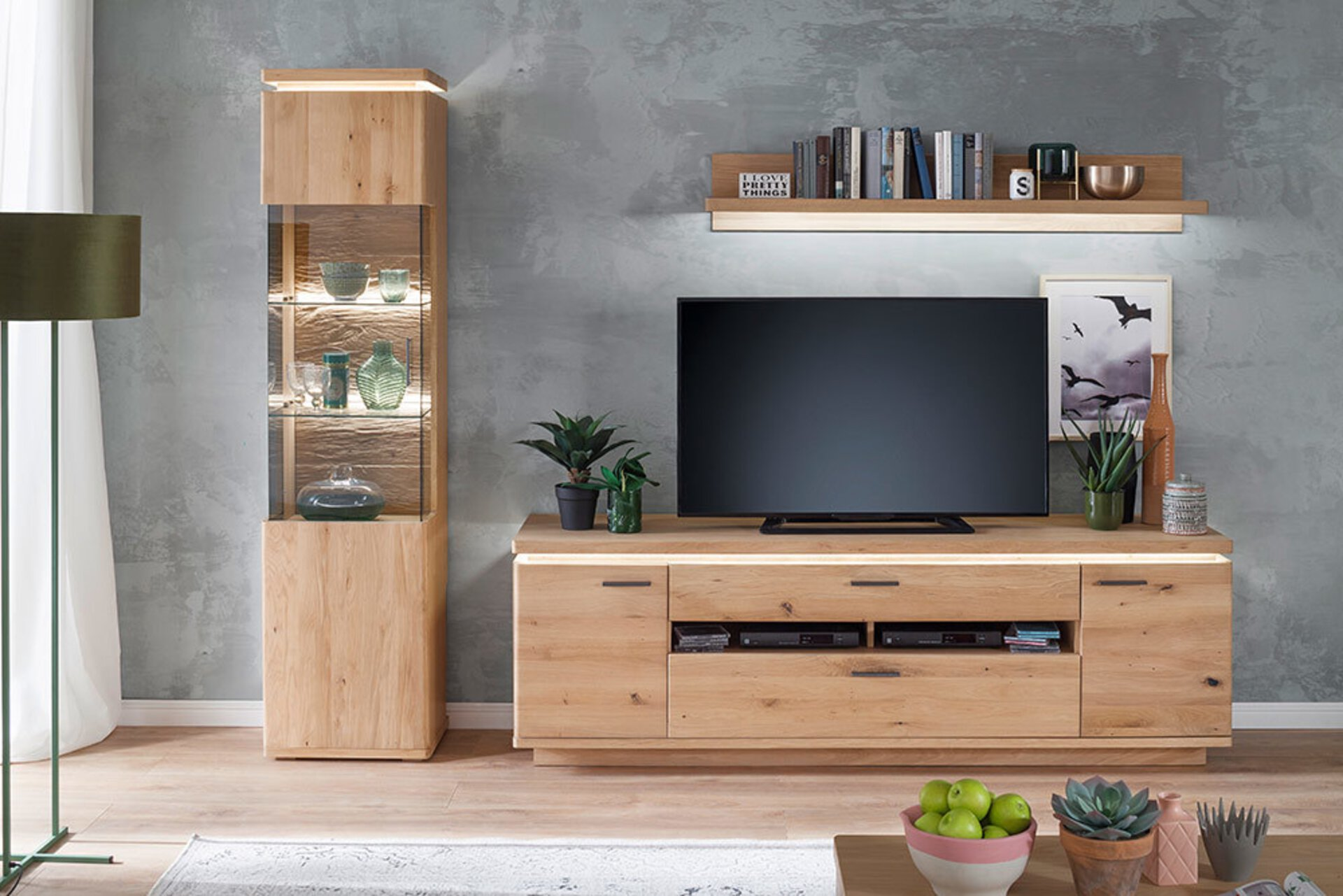 Wohnwand BARCELONA MCA furniture Holzwerkstoff 50 x 204 x 280 cm