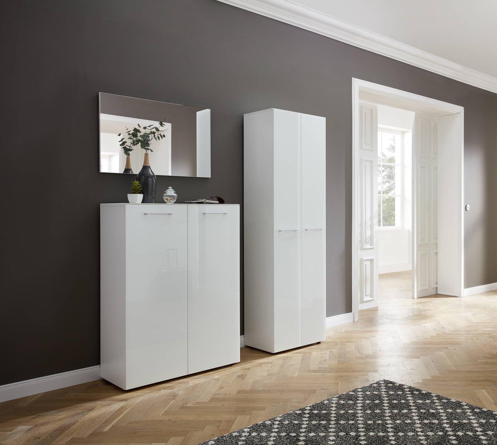 Garderobenbank SCALEA Germania Holzwerkstoff weiß 40 x 47 x 97 cm