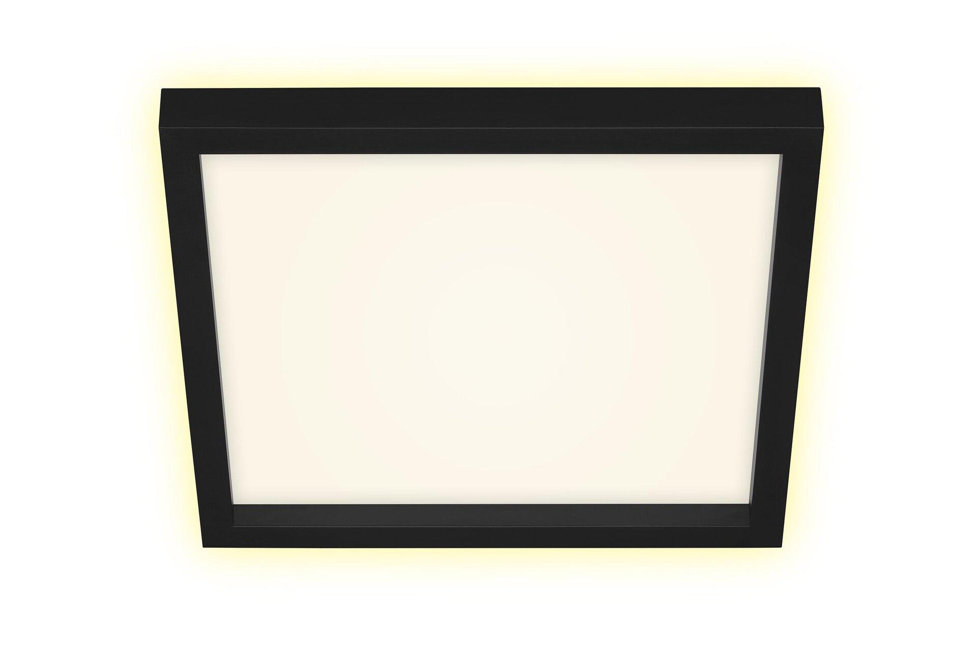 Deckenleuchte CADRE Briloner Metall schwarz 30 x 4 x 30 cm