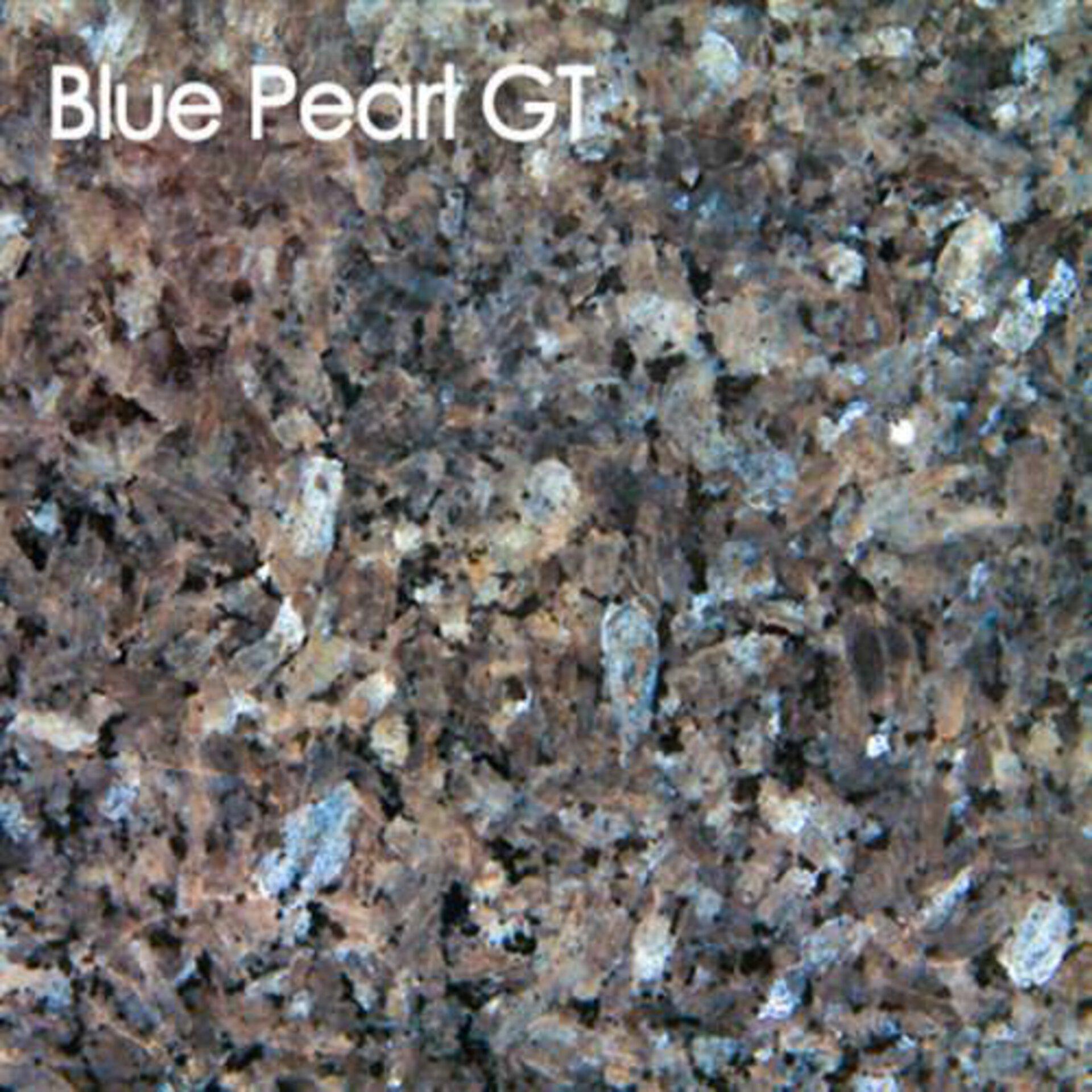 Arbeitsplatte aus Natirstein in der Ausführung Blue Pearl GT.