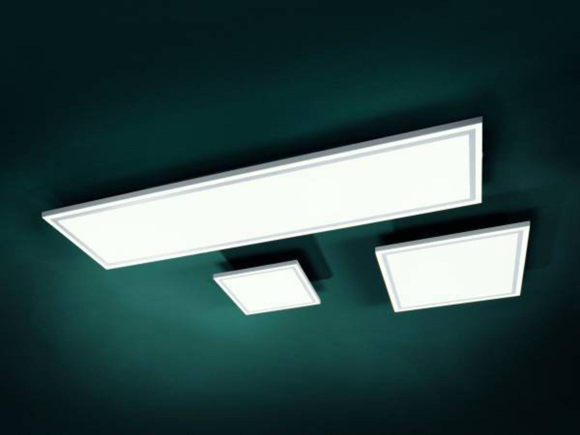 Deckenleuchte EDGING Leuchtendirekt Metall weiß 31 x 6 x 32 cm