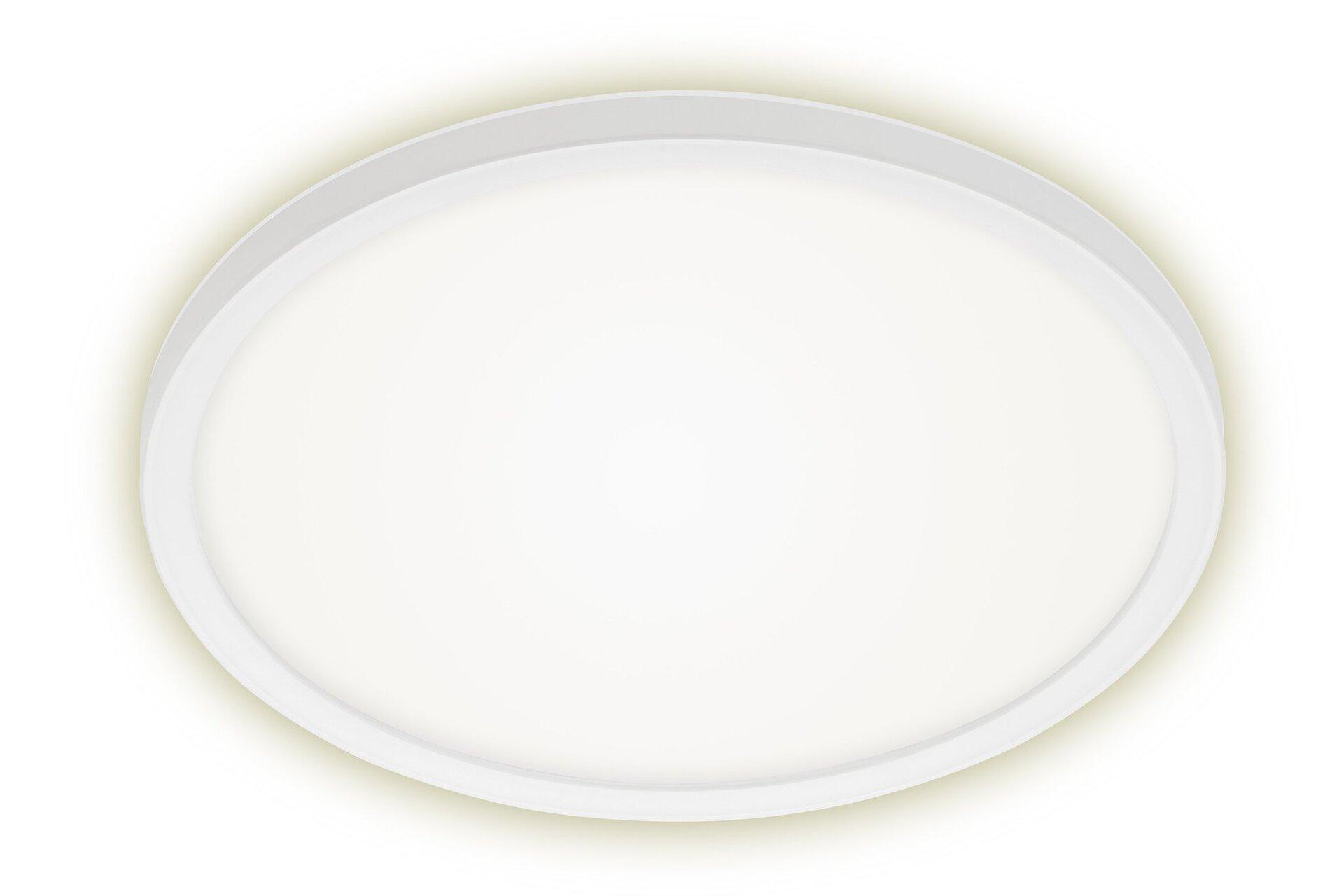 Deckenleuchte SLIM Briloner Metall weiß 29 x 3 x 29 cm