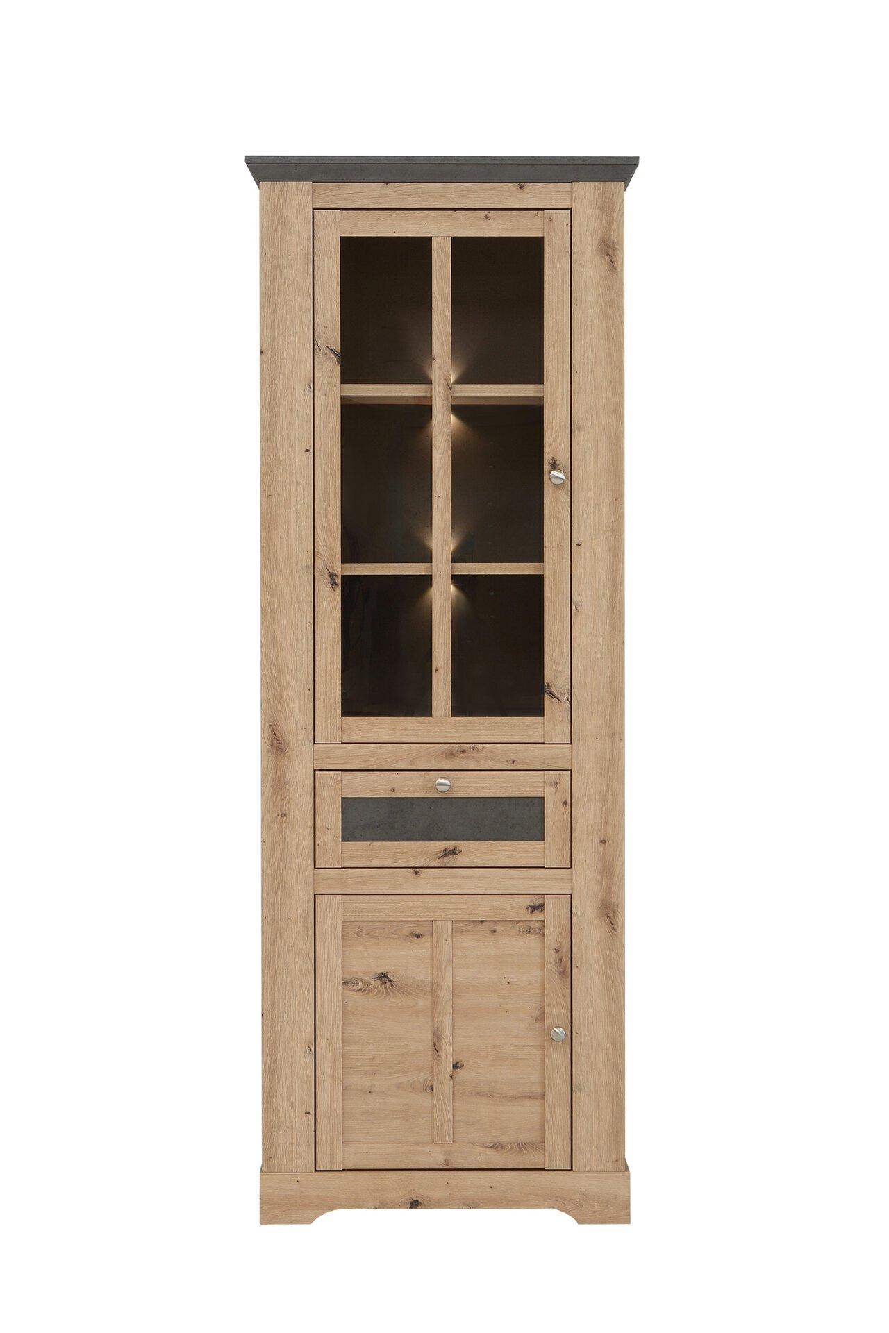 Vitrine ALETTA SELF Holzwerkstoff mehrfarbig 44 x 210 x 76 cm