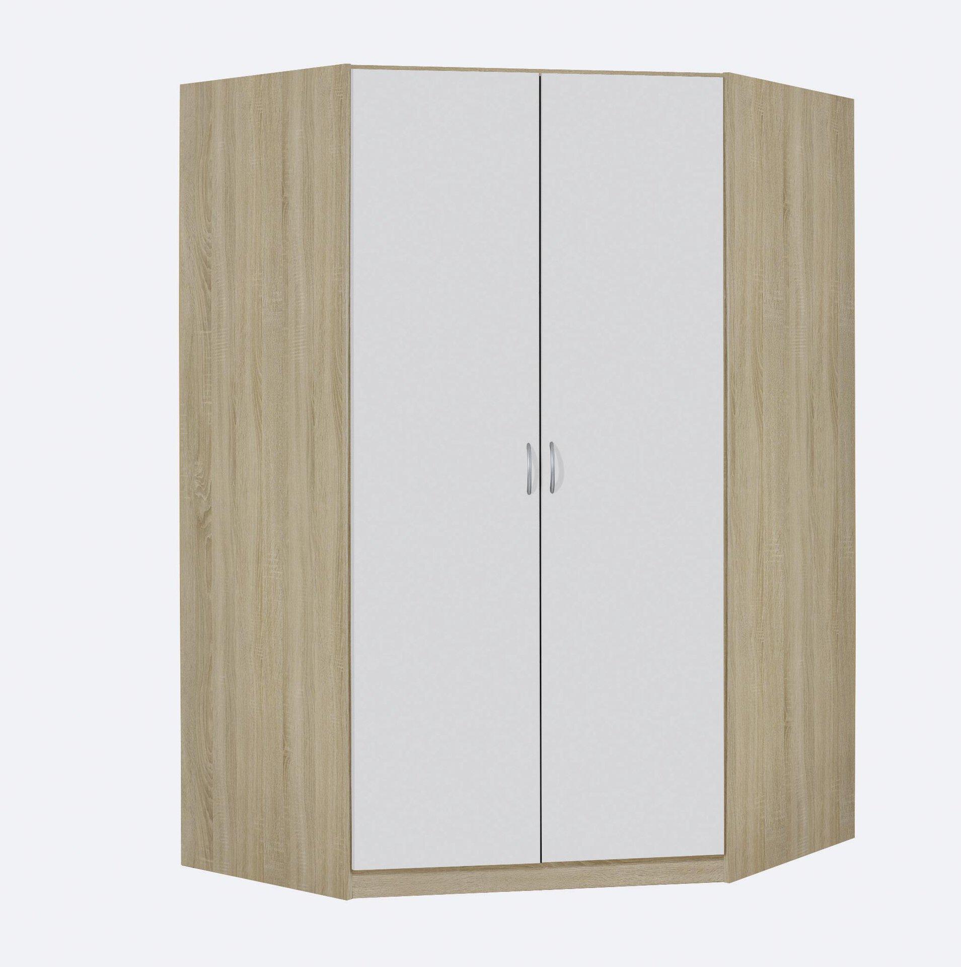Eckkleiderschrank CASE rauch BLUE Holzwerkstoff 117 x 197 x 117 cm