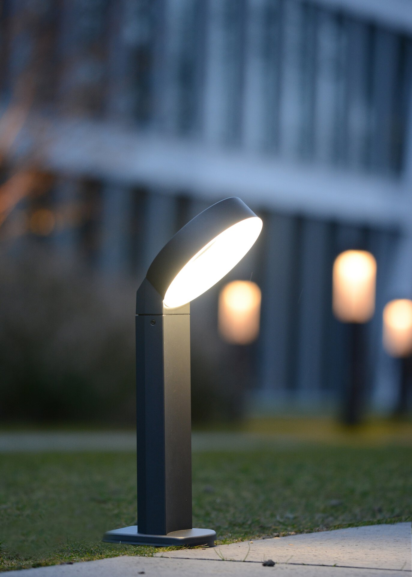 Wege-Außenleuchte Meridian Eco-Light Metall 18 x 73 x 21 cm