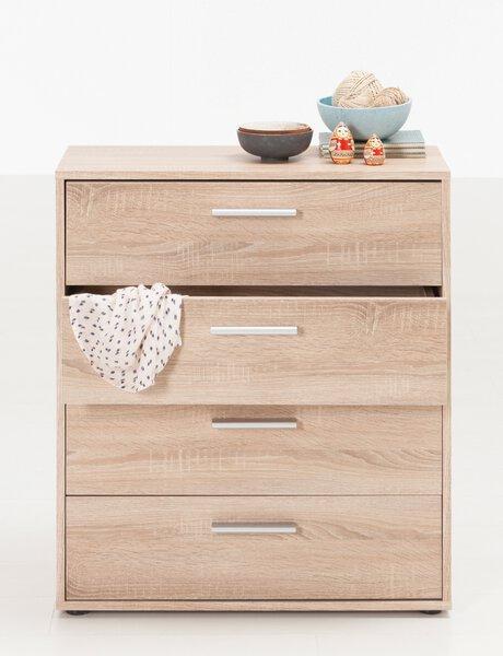 Kommode SELF Holzwerkstoff Eiche Sonoma Nachbildung ca. 30 cm x 80 cm x 70 cm