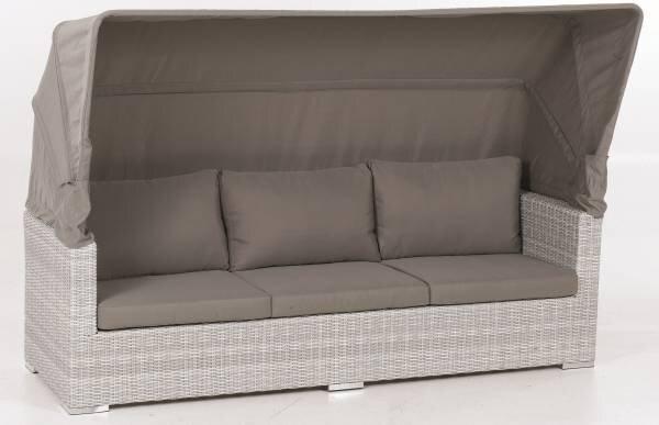 Loungesofa Outdoor Metall, Textil Gestell Aluminiumgeflecht ca. 75 cm x 75 cm x 215 cm
